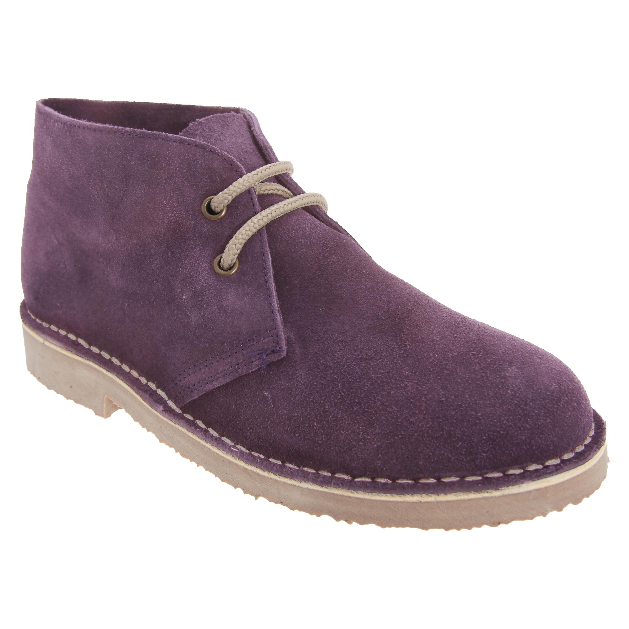 Roamers Adults Unisex Real Suede Unlined Desert Boots (15 UK) (Dark Grey)
