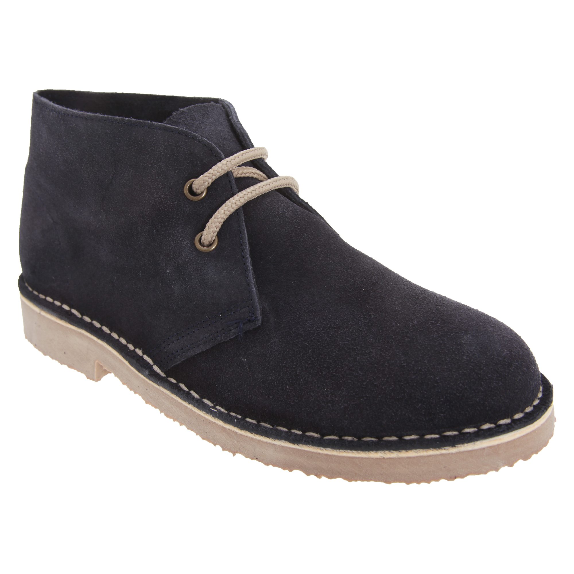 Roamers Adults Unisex Real Suede Unlined Desert Boots (12 UK) (Navy)