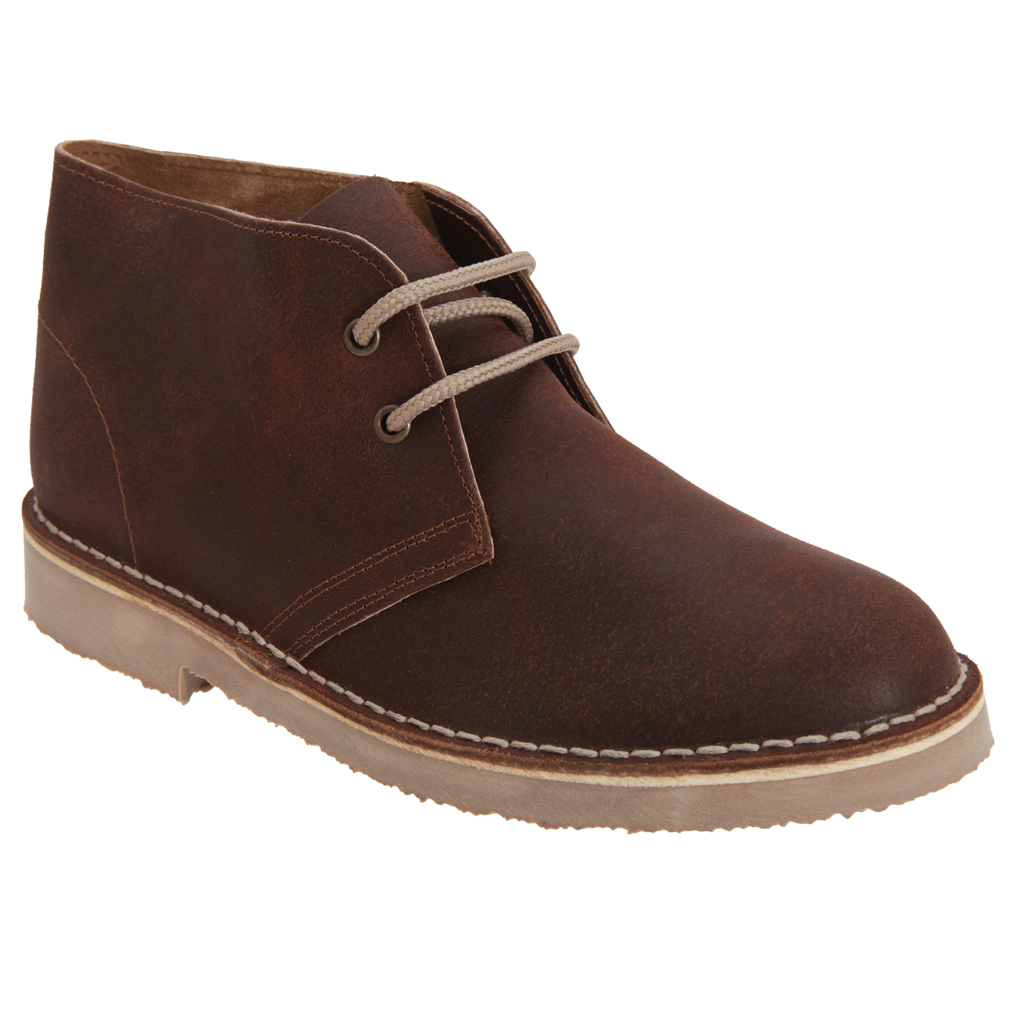 Roamers Adults Unisex Unlined Distressed Leather Desert Boots (10 UK) (Brown)