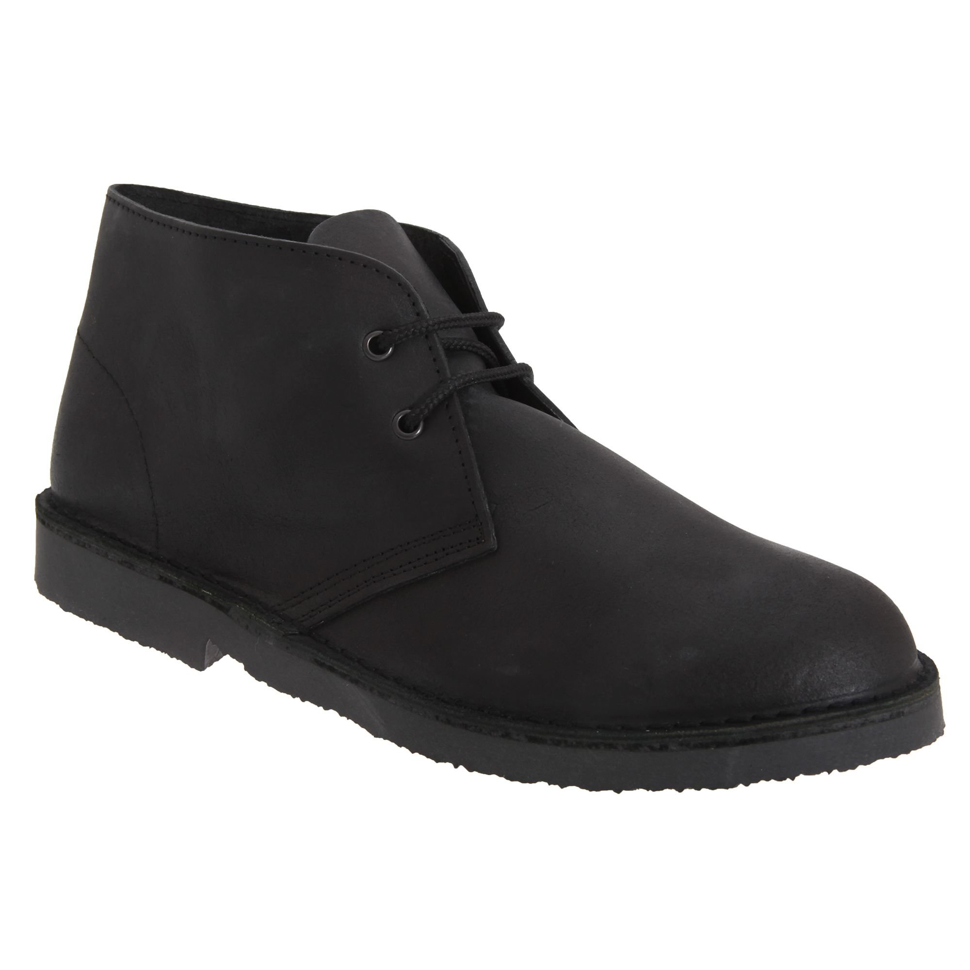 Roamers Adults Unisex Unlined Distressed Leather Desert Boots (7 UK) (Black)