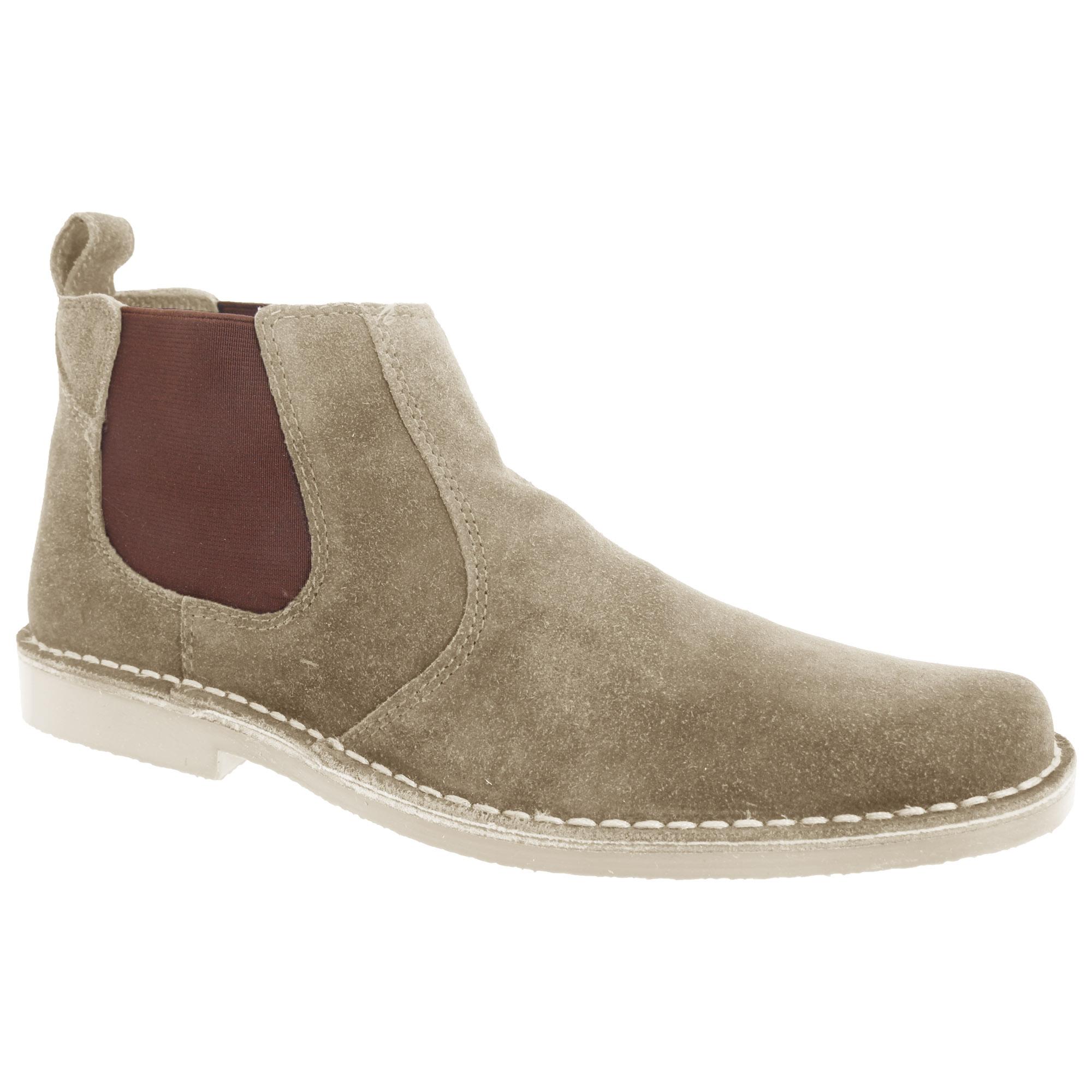 Roamers Mens Real Suede Classic Desert Boots (8 UK) (Dark Brown)