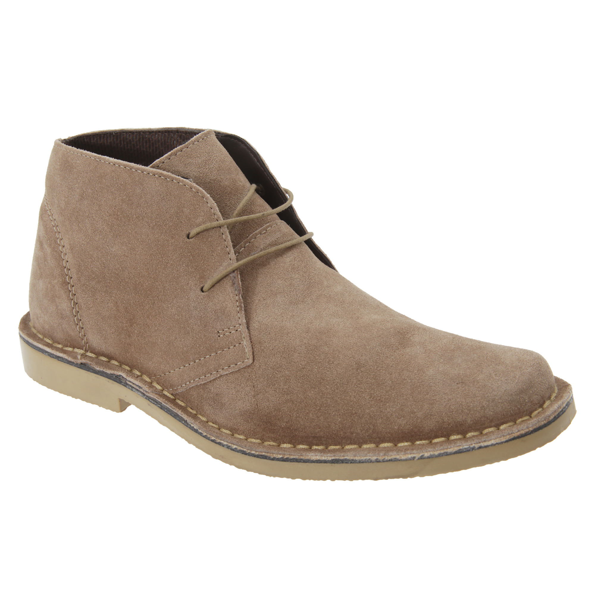 Roamers Mens Real Suede Classic Desert Boots (11 UK) (Sand)