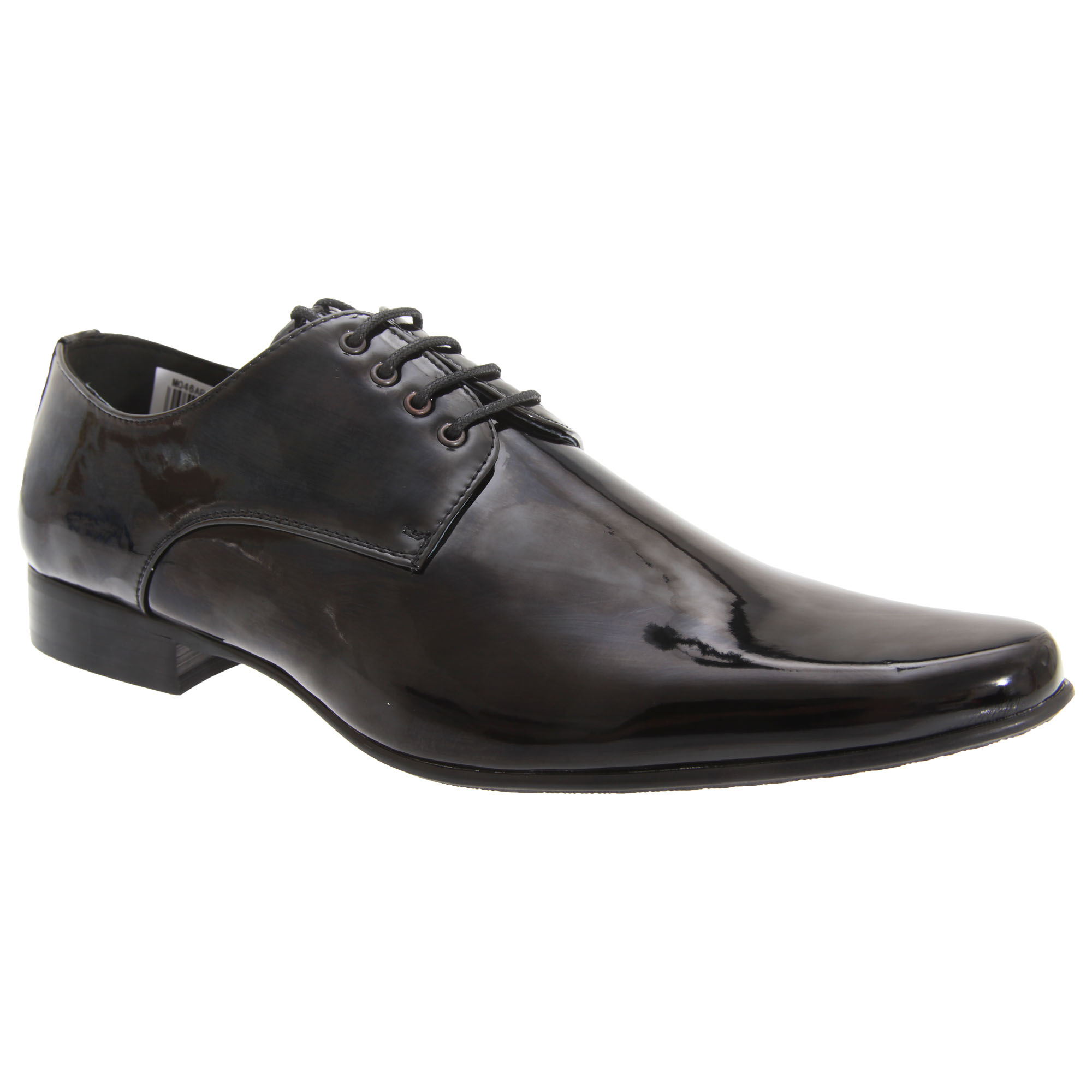 Goor Mens Patent Leather Lace-Up Chisel Toe Gibson Dress Shoes (13 UK) (Black Patent)