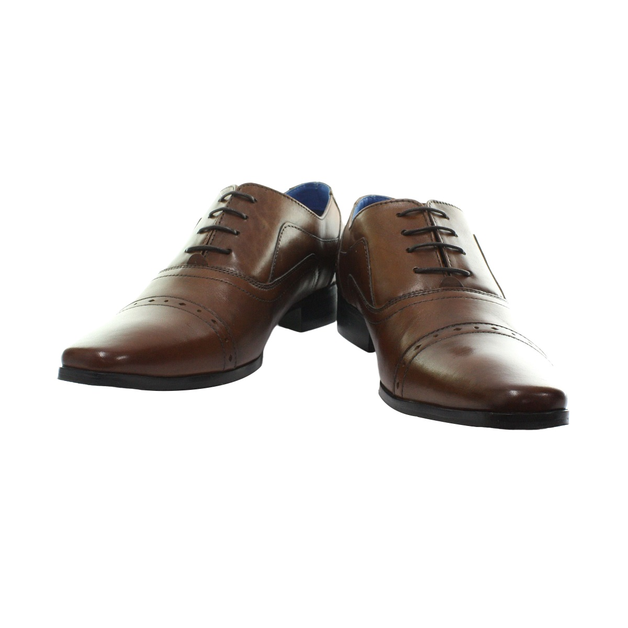 Roamers Cap Herren 5 Ösen Punch Cap Roamers Leder Oxford Schuhe (DF1314) 292803