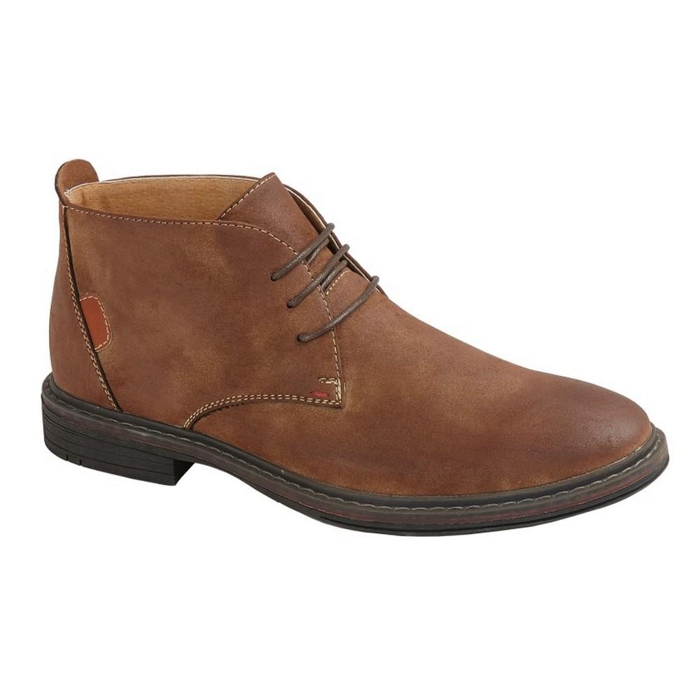 Goor Mens 3 Eye Synthetic Nubuck Desert Boots (8 UK) (Tan)
