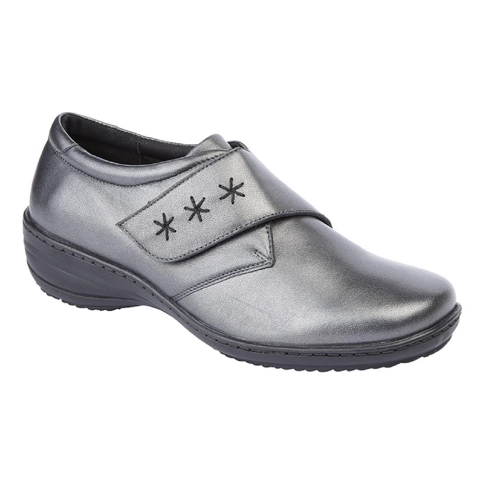 Mod Comfys Damen Memory Foam (DF1504) Leder Klettverschluss Schuhe (DF1504) Foam 3bd177