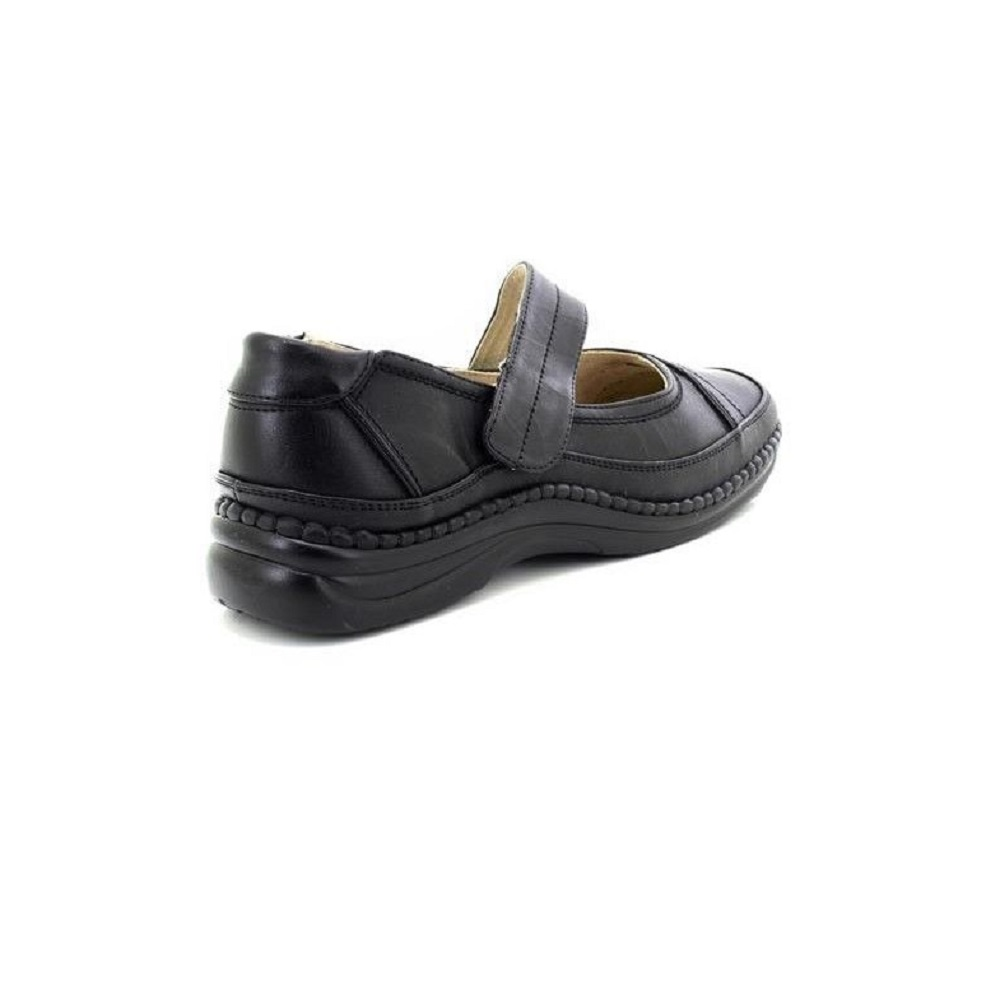 DF168 Boulevard Womens//Ladies Extra Wide EEE Fitting Black Mary Jane Shoes