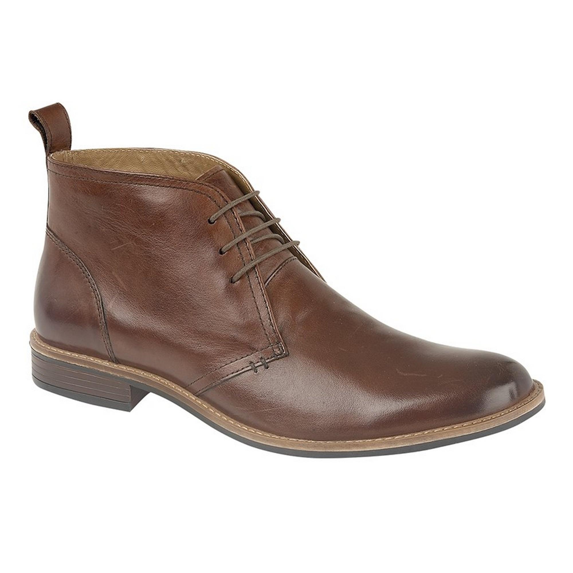 Roamers Mens Leather 3 Eye Desert Boots (9 UK) (Brown)