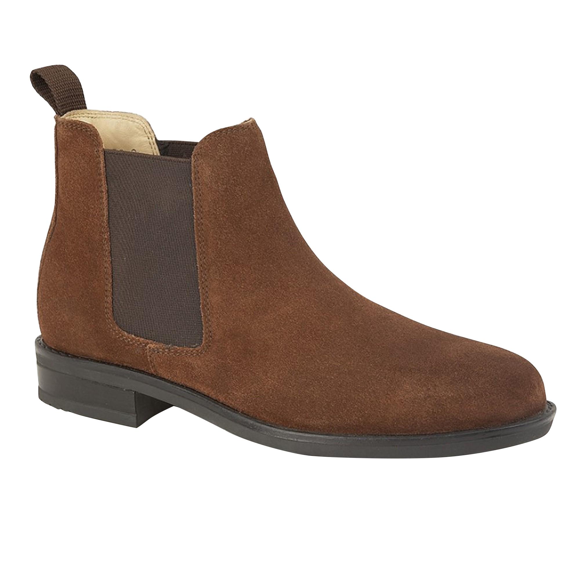 Roamers Mens Gusset Boots (9 UK) (Tan Suede)