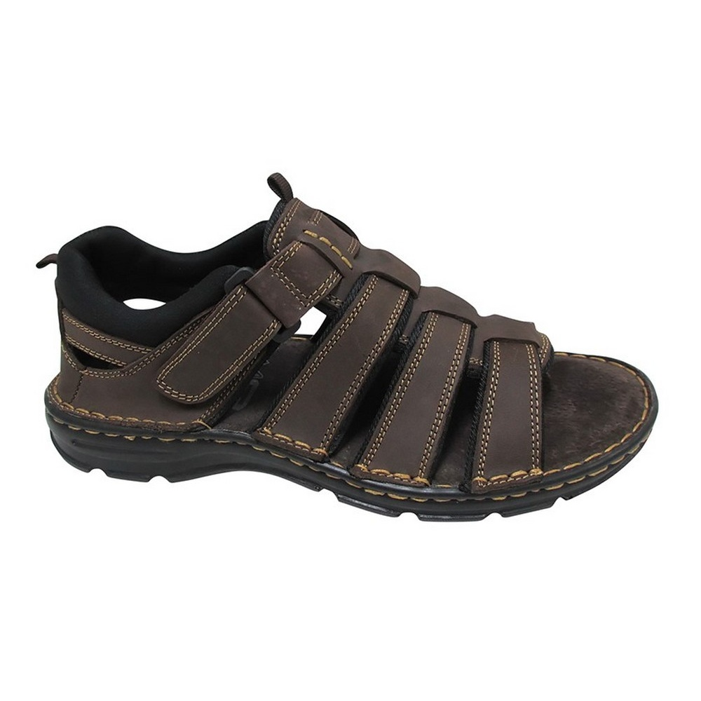 Roamers Mens 3 Touch Fastening Padded Beach Trail Sports Sandals DF801