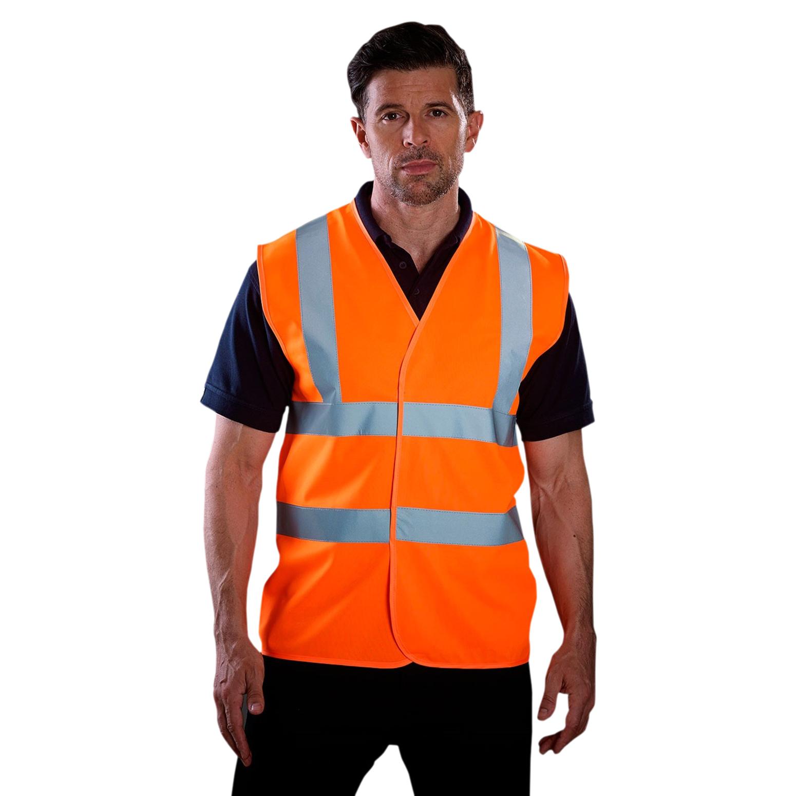 Grafters Unisex Hi-Visibility Safety Waistcoat (4XL) (Orange)