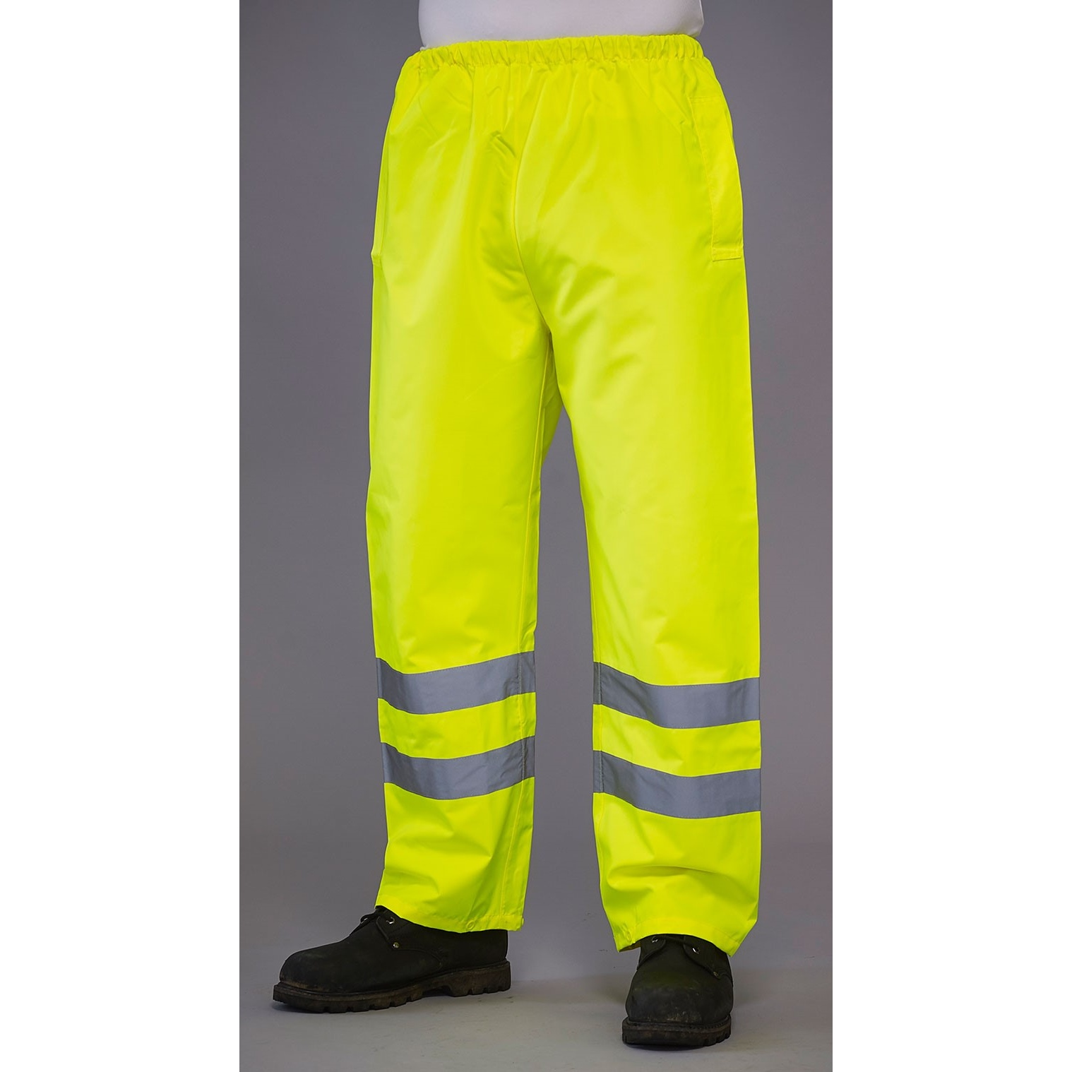 Grafters Unisex Safety Hi-Visibility Waterproof Over Trousers (S) (Yellow)