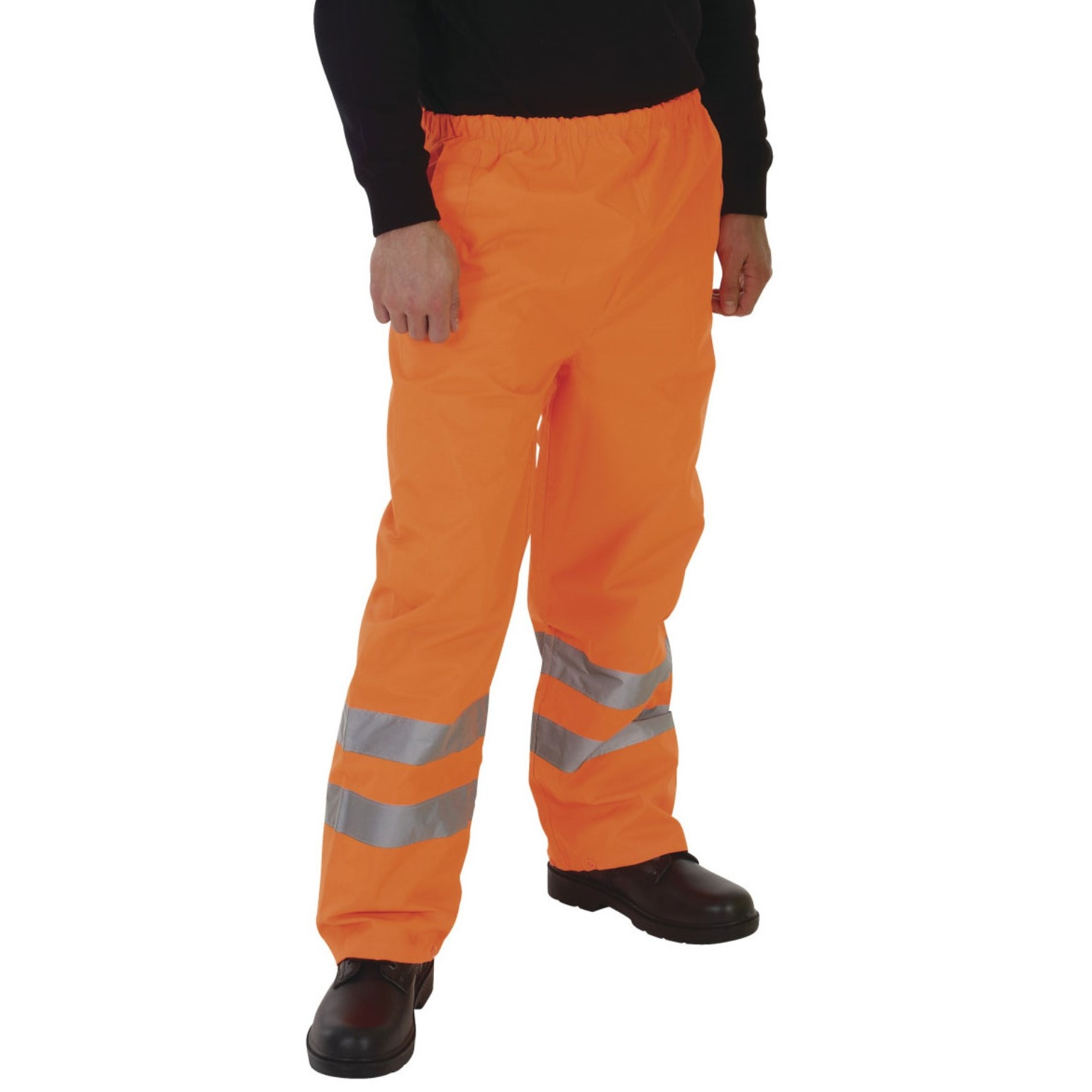 Grafters Unisex Safety Hi-Visibility Waterproof Over Trousers (2XL) (Orange)