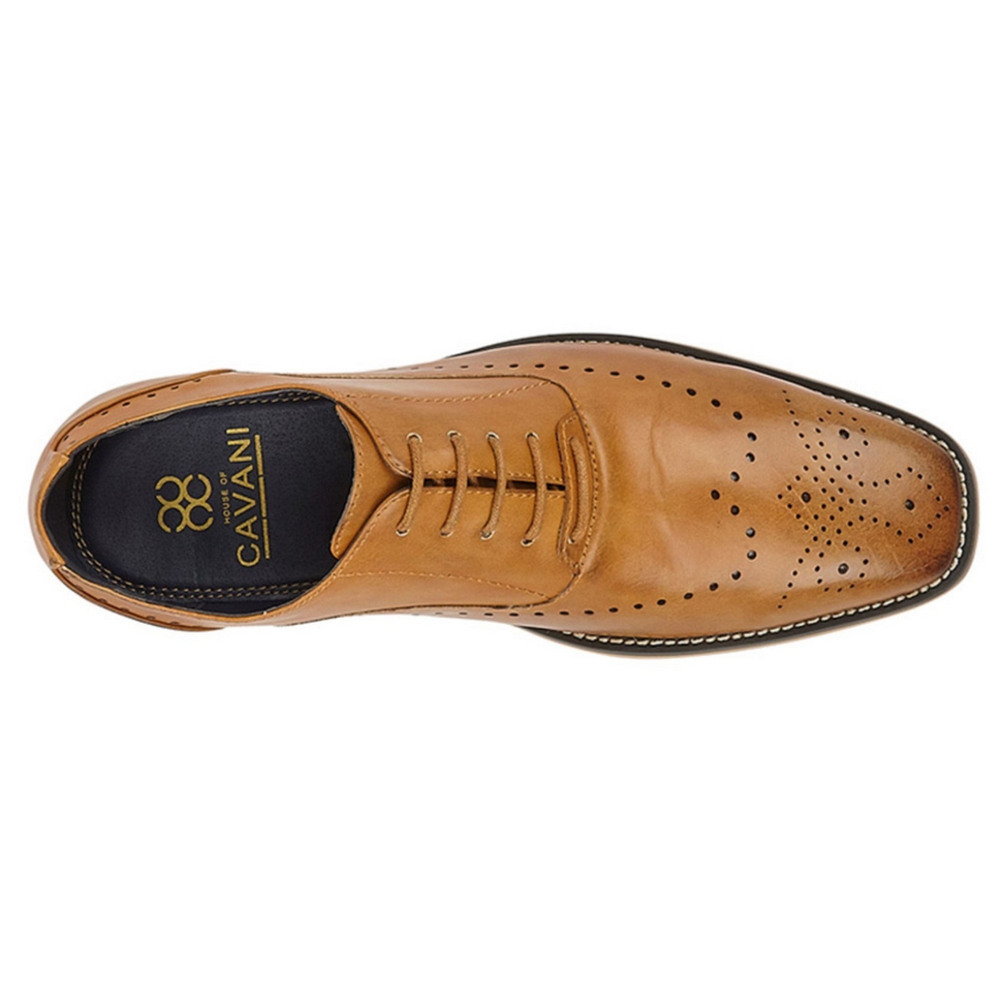 Cavani-Chaussures-Brogue-Oxford-Homme-DF1878 miniature 4