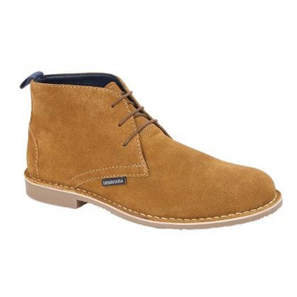 Lambretta Mens Suede Desert Boots (8 UK) (Tan)