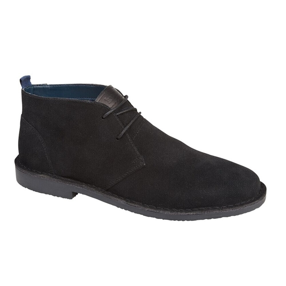 Roamers Mens Suede Desert Boots (8 UK) (Black)