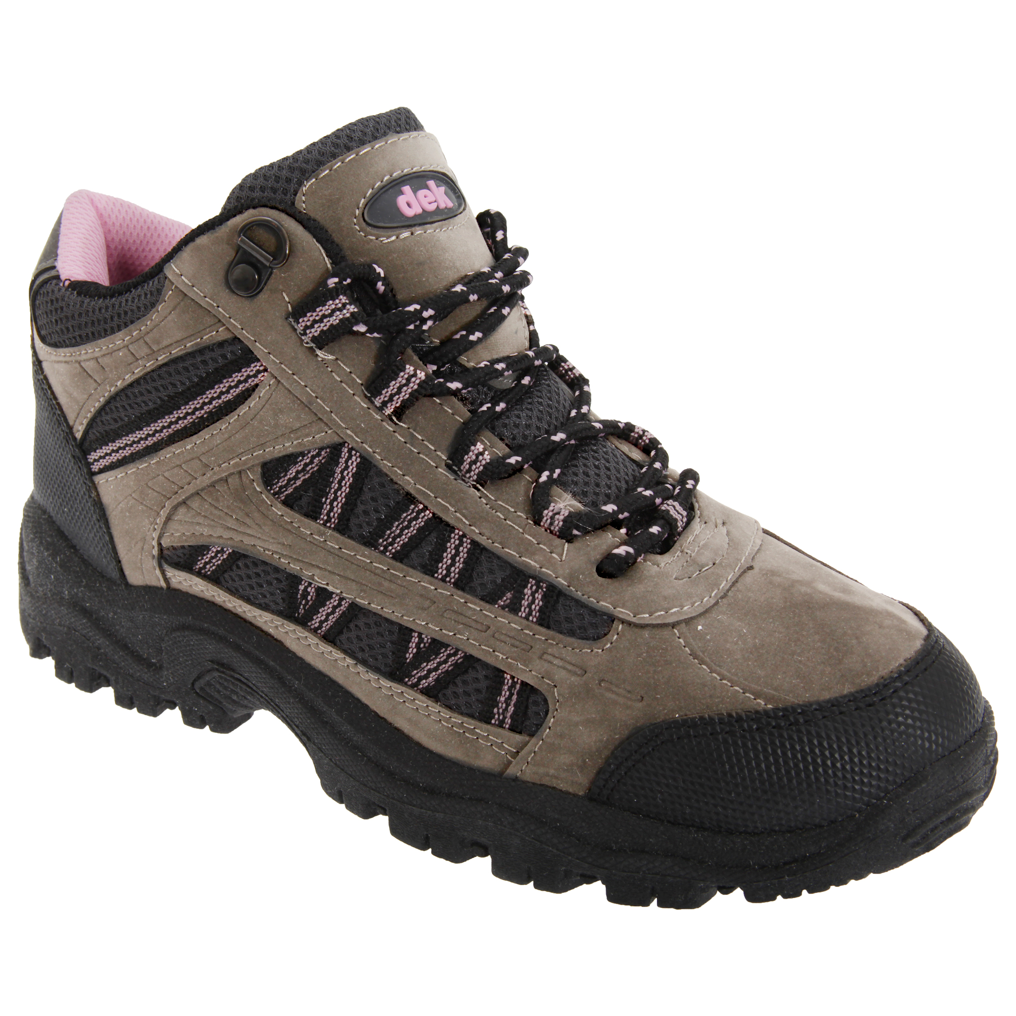 Dek Womens/Ladies Grassmere Lace-Up Ankle Trek & Trail Boots (5 UK) (Grey/Pink)
