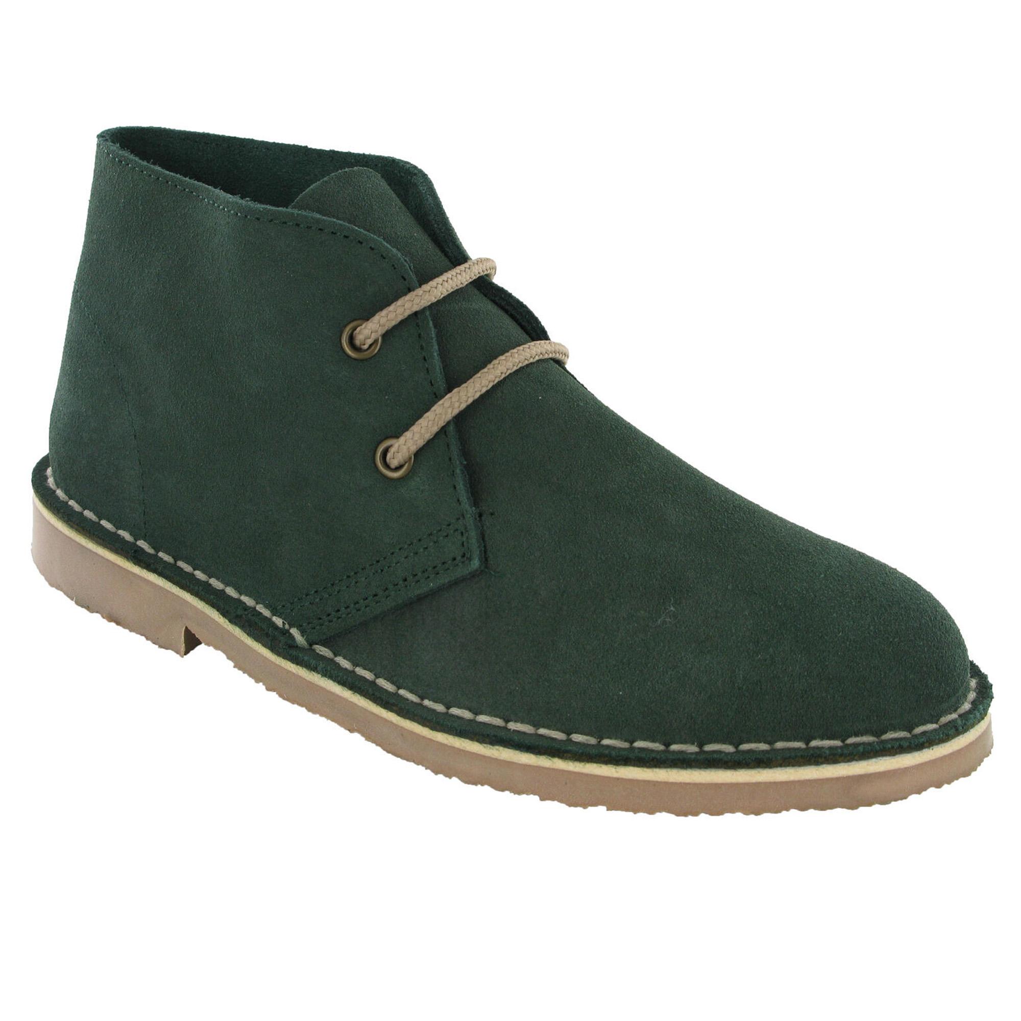 Roamers Womens/Ladies Real Suede Unlined Desert Boots (6 UK) (Plum)
