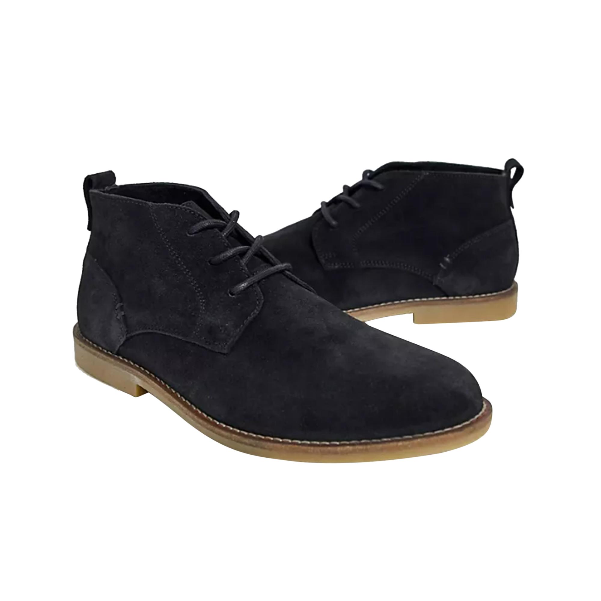 Roamers Mens Real Suede Fulfit Desert Boots (10 UK) (Dark Brown)