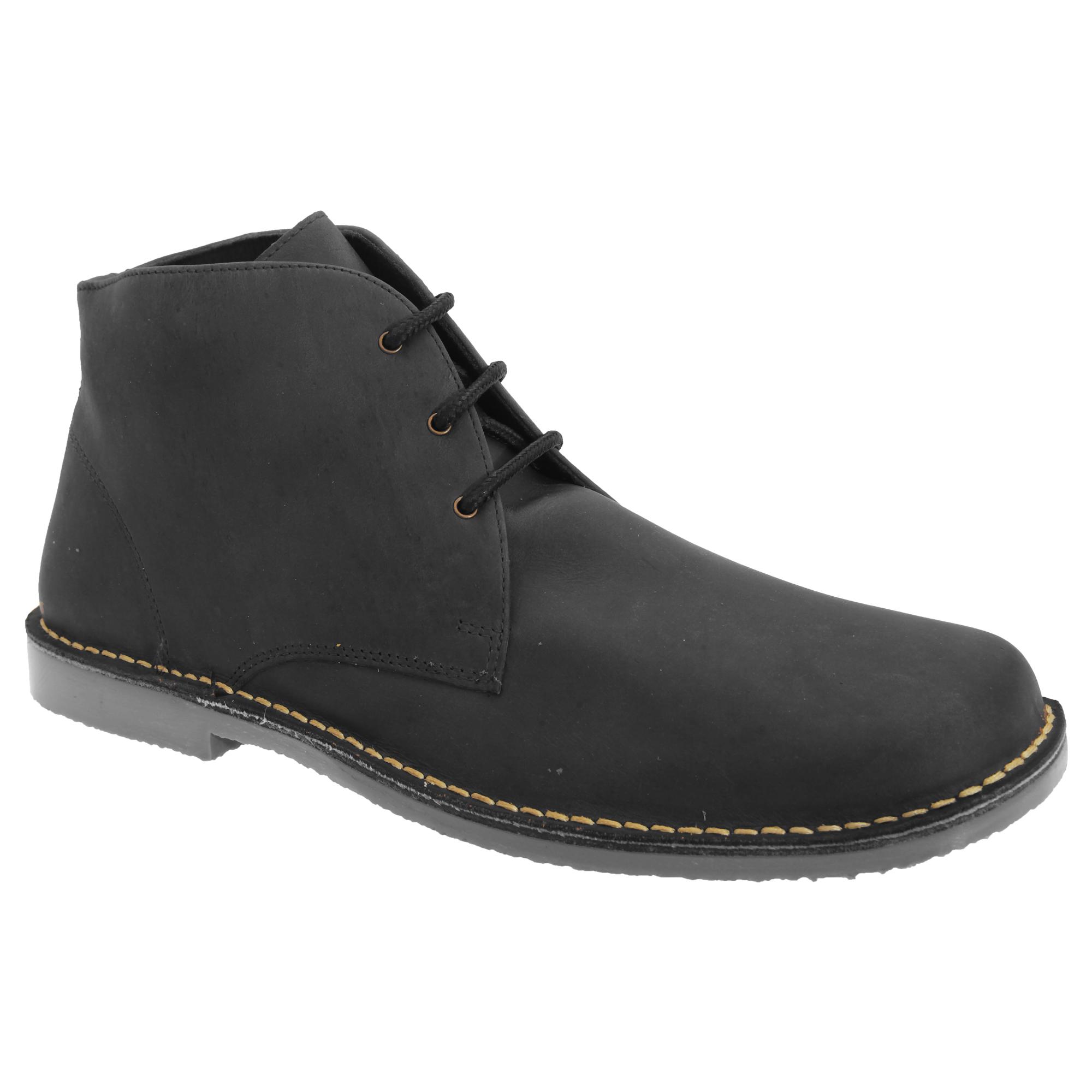 Roamers Mens Waxy Leather Fulfit Desert Boots (13 UK) (Brown)