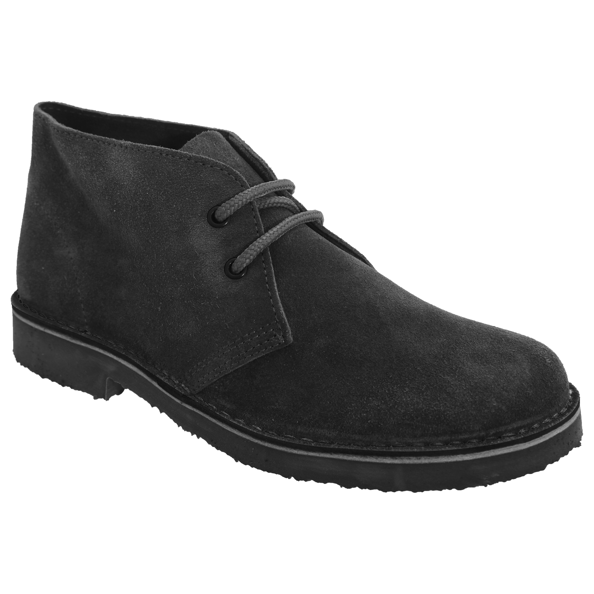 Roamers Womens/Ladies Real Suede Round Toe Unlined Desert Boots (4 UK) (Black)