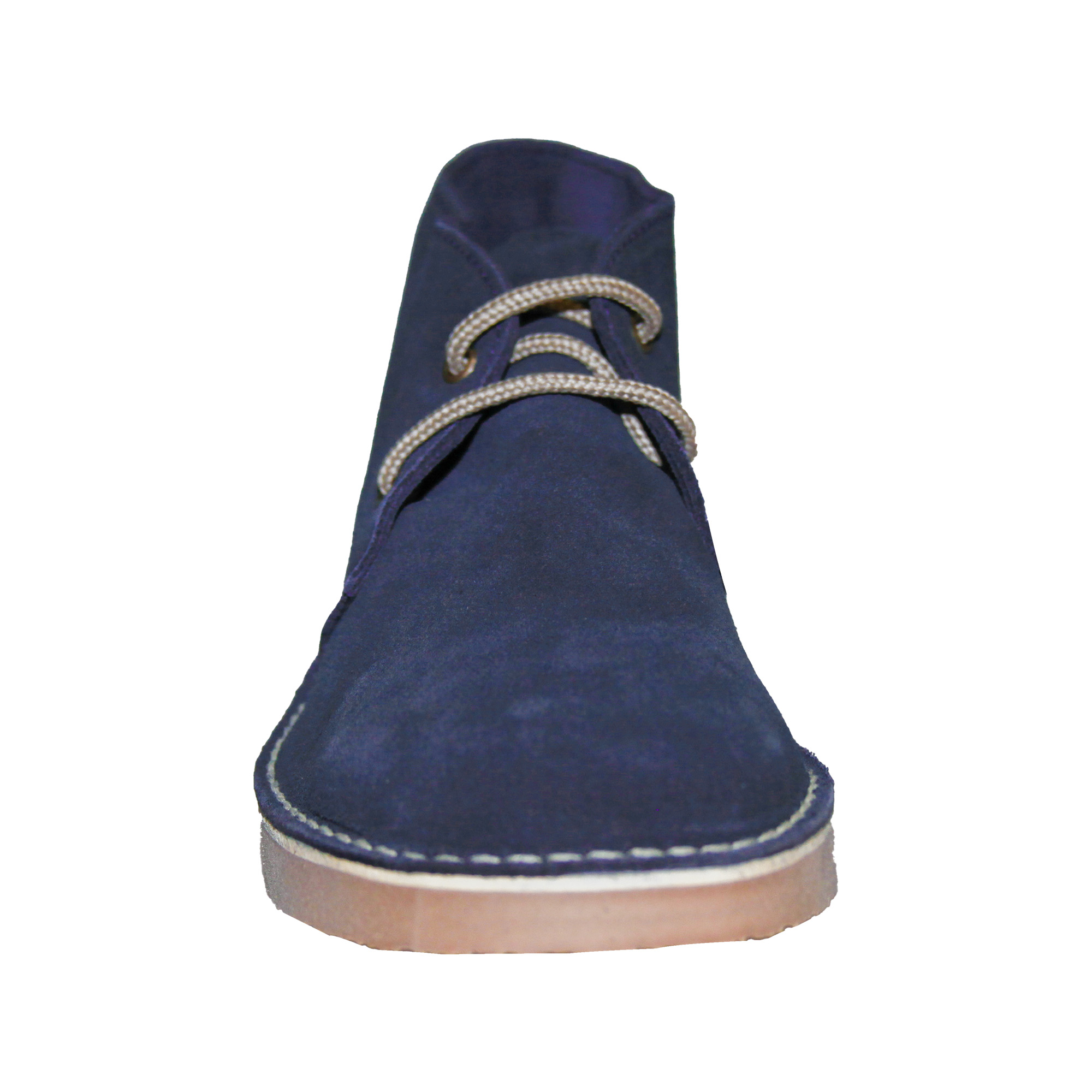 Roamers Mens Real Suede Round Toe Unlined Desert Boots (7 UK) (Black)