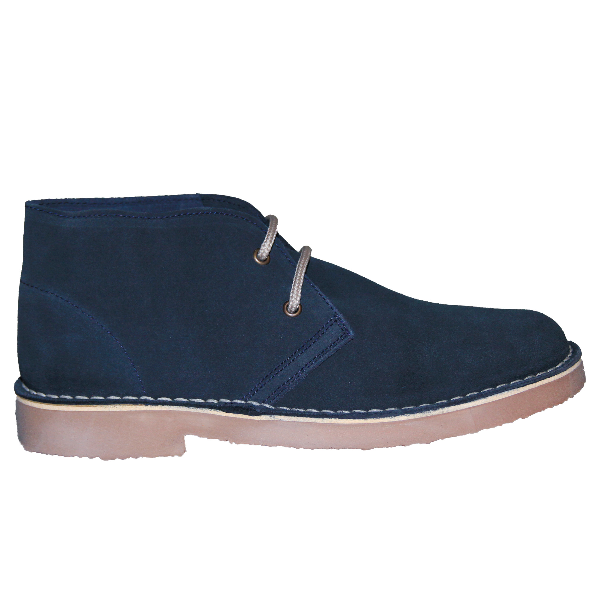 Roamers Mens Real Suede Round Toe Unlined Desert Boots (9 UK) (Khaki)