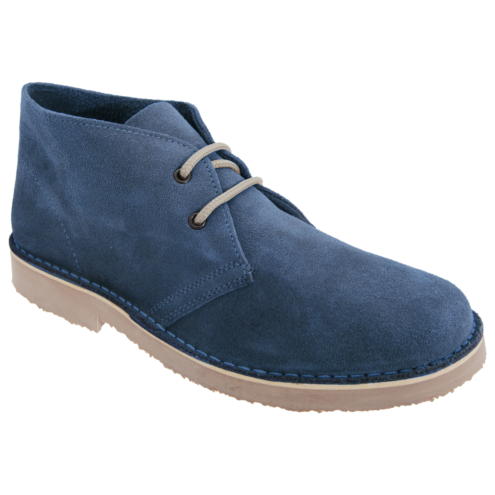 Roamers Mens Real Suede Round Toe Unlined Desert Boots (9 UK) (Navy)