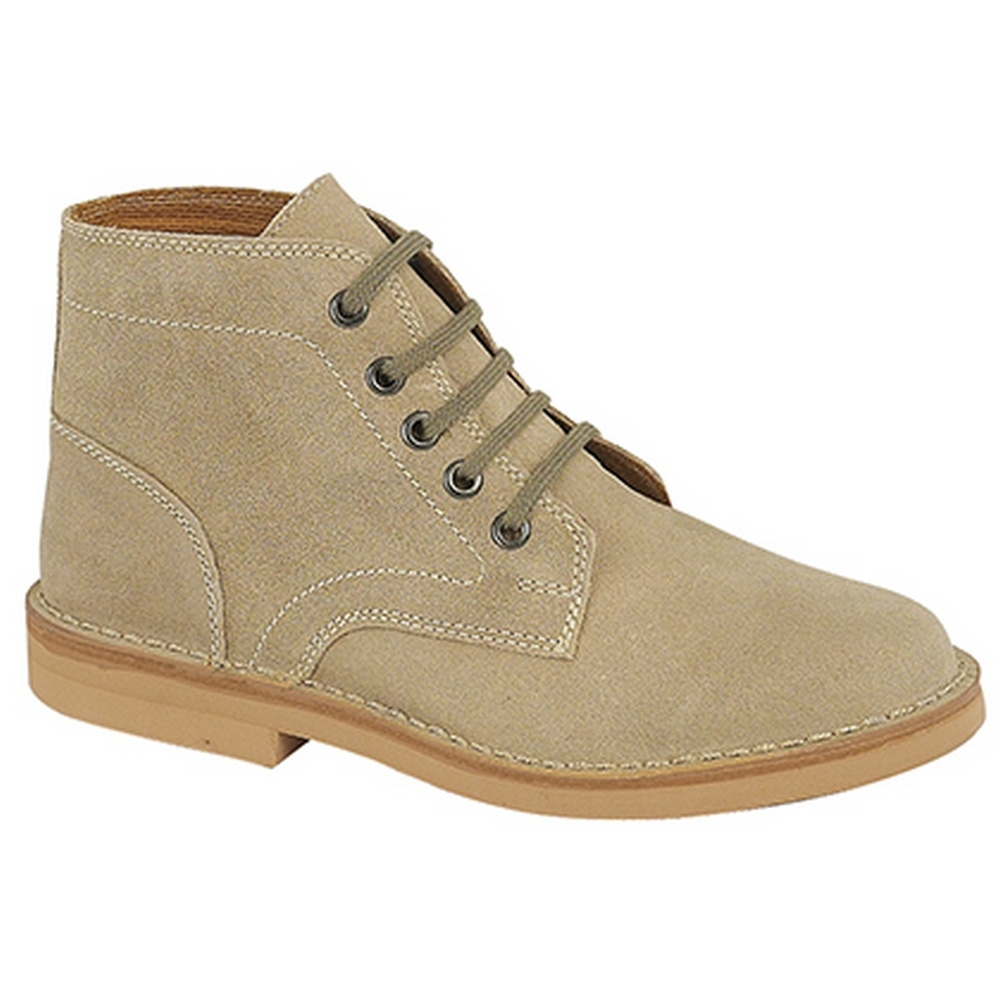 Roamers Mens Real Suede Leisure Boots (10 UK) (Dark Taupe)