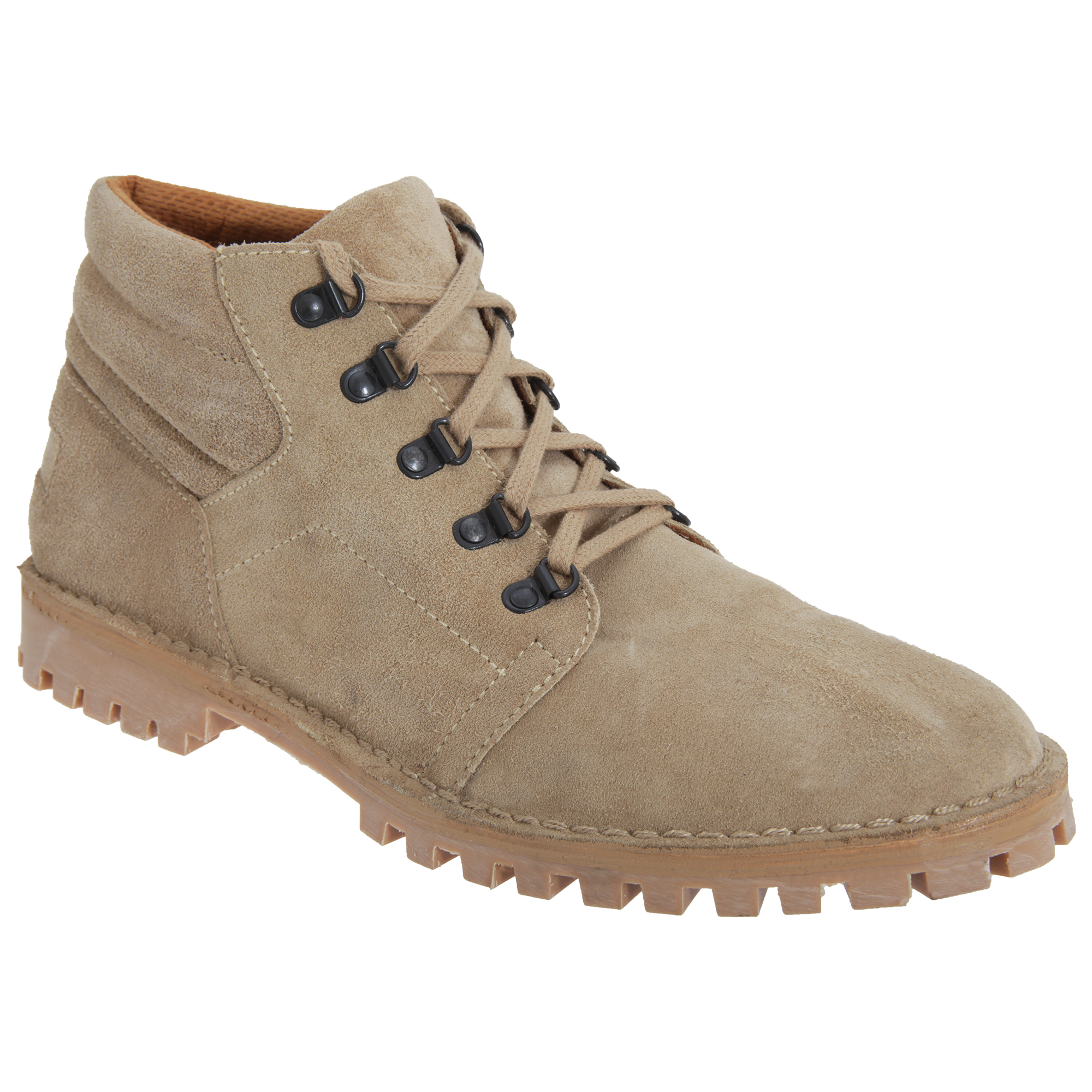 Roamers Mens Real Suede D Ring Leisure Boots (12 UK) (Light Taupe)