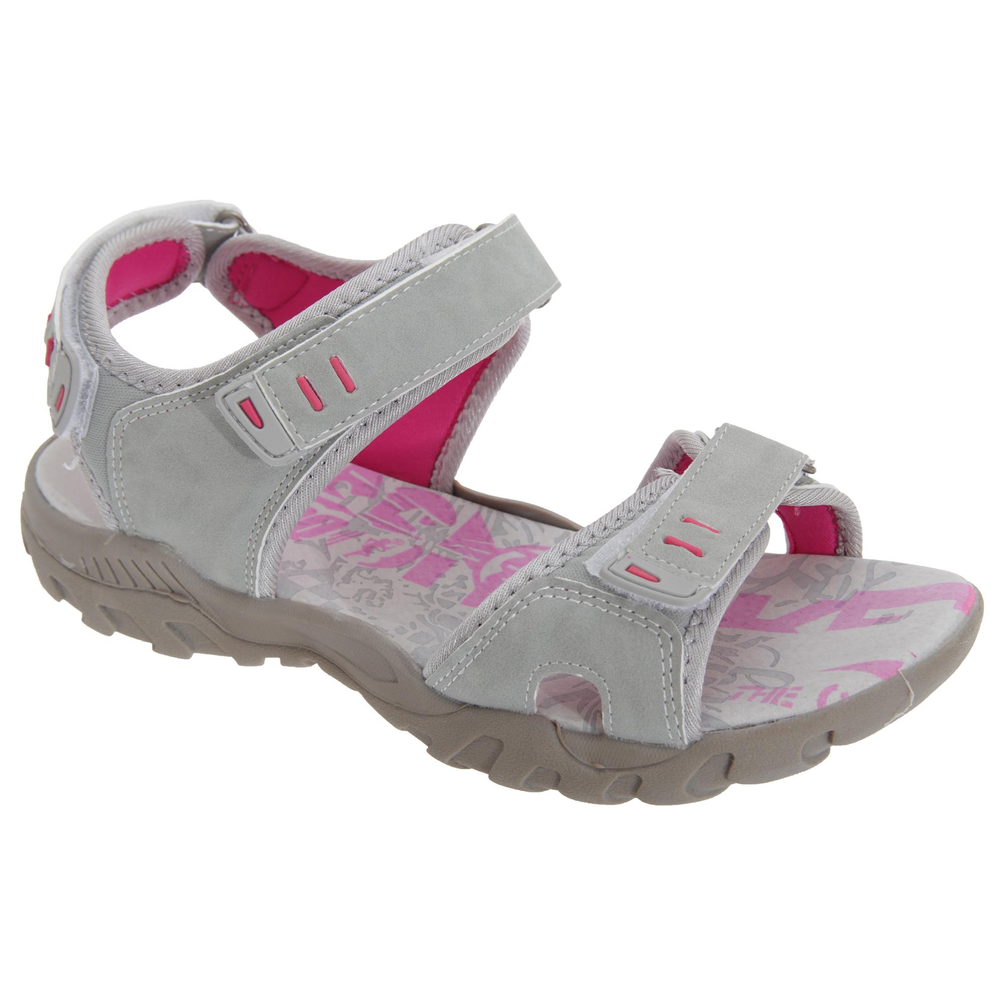 PDQ Damen Sport Sandale/Trekkingsandale mit Klettverschluss (7 UK/40 EU) (Hellgrau/Mint) d2jgXNl