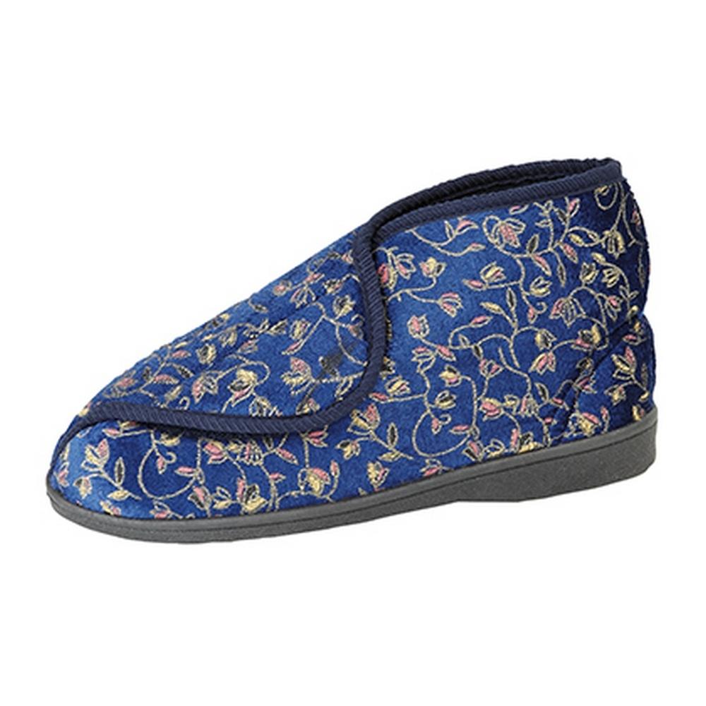Zedzzz Mujer/Dama Geraldine Cierre Táctil Zapatillas floral aplicada