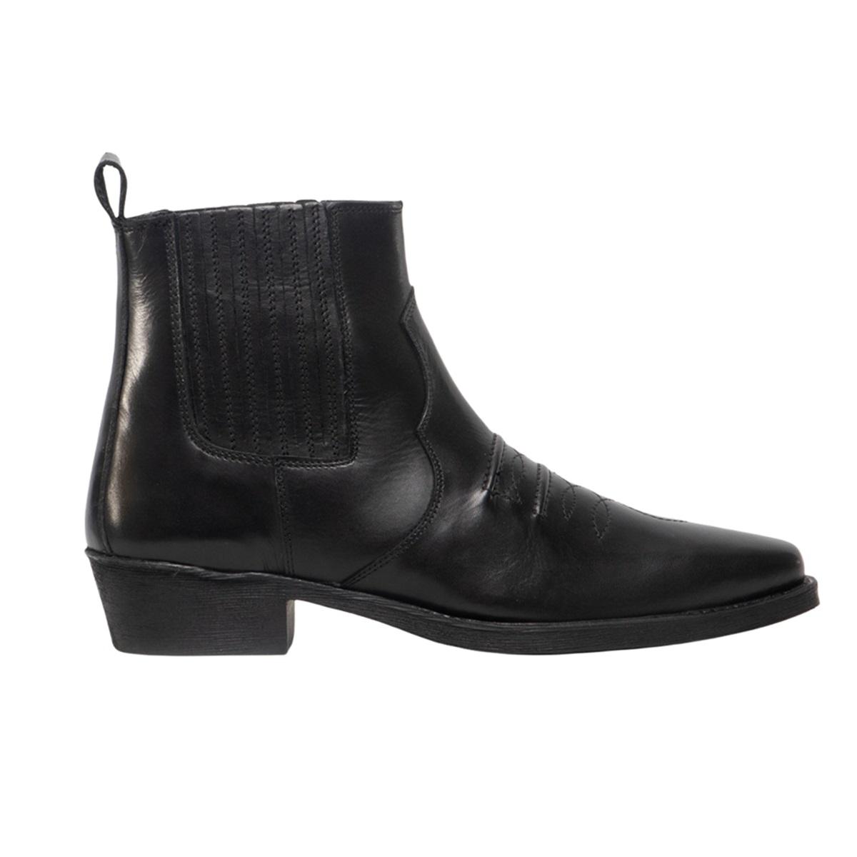 Gringos-Botas-estilo-oeste-de-cuero-envejecido-con-elasticos-DF757