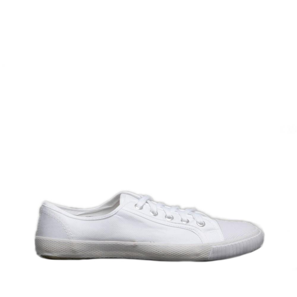 Dek Kids Unisex Junior Lace White Canvas Gym Plimsolls