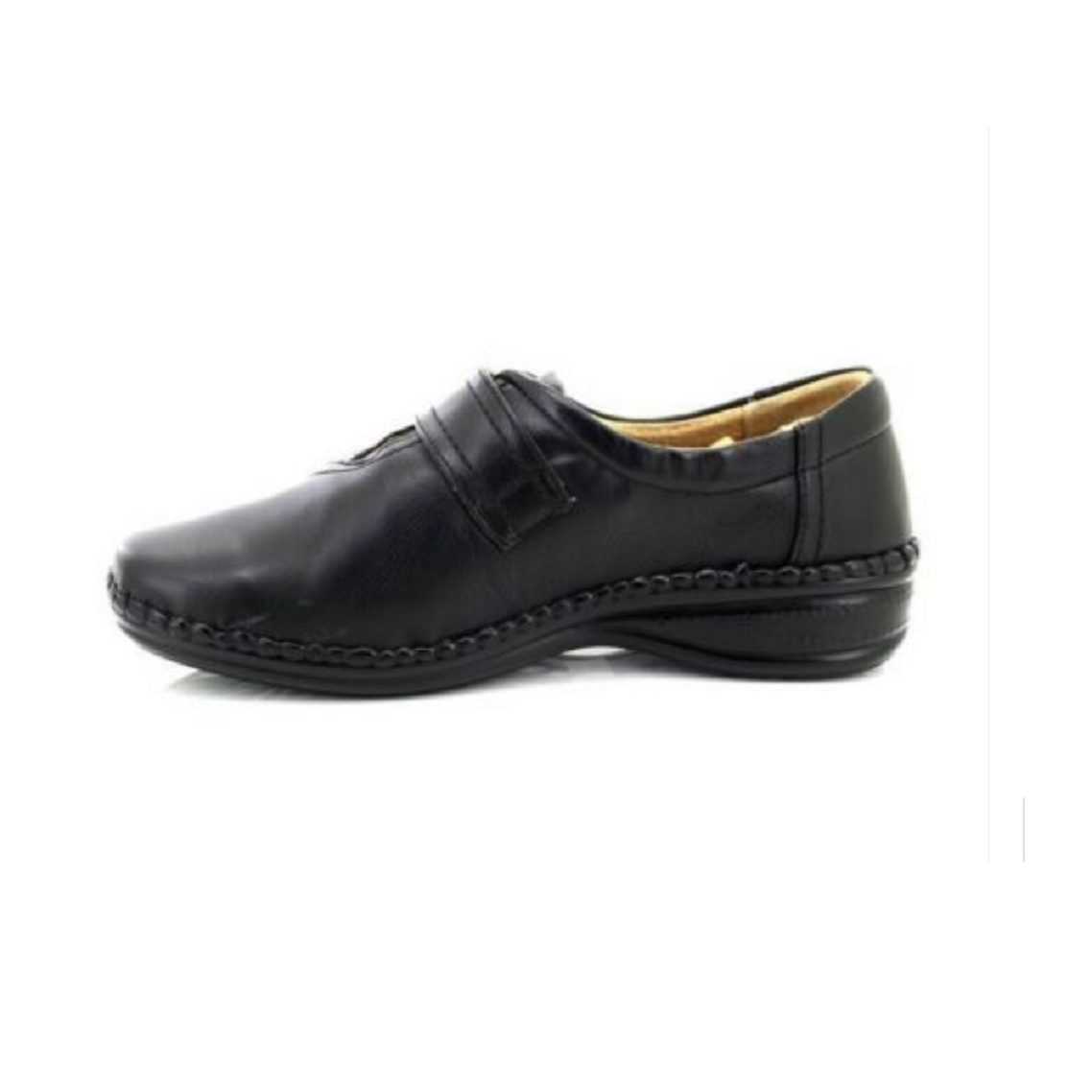 DF999 Boulevard Womens//Ladies XXX Wide Touch Fastening Bar Shoes//Loafers