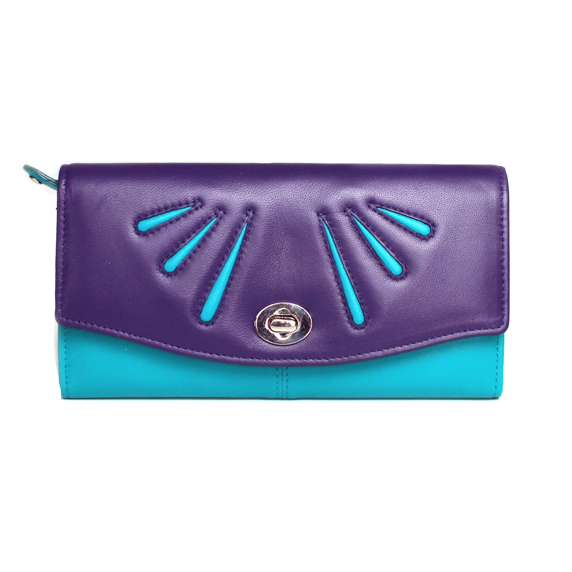 Eastern Counties Leather Womens/Ladies Aria Twist Lock Purse (One size) (Watermelon/Black)