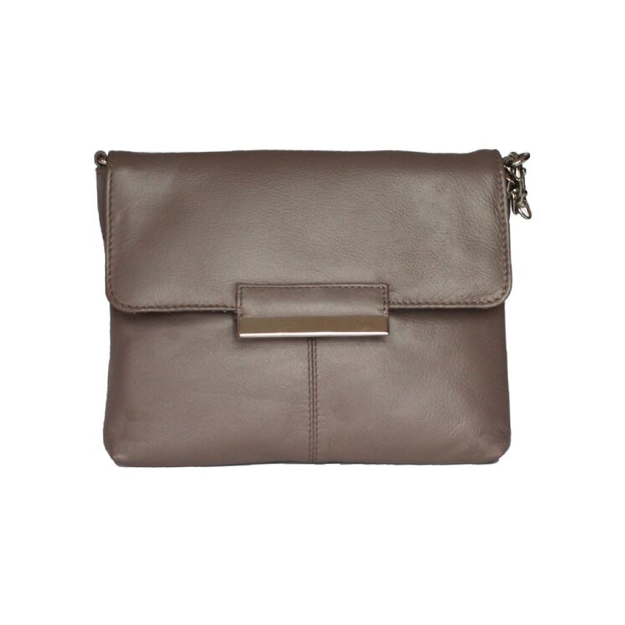 Eastern Counties Leather Womens/Ladies Carys Chain Strap Handbag (One size) (Taupe)
