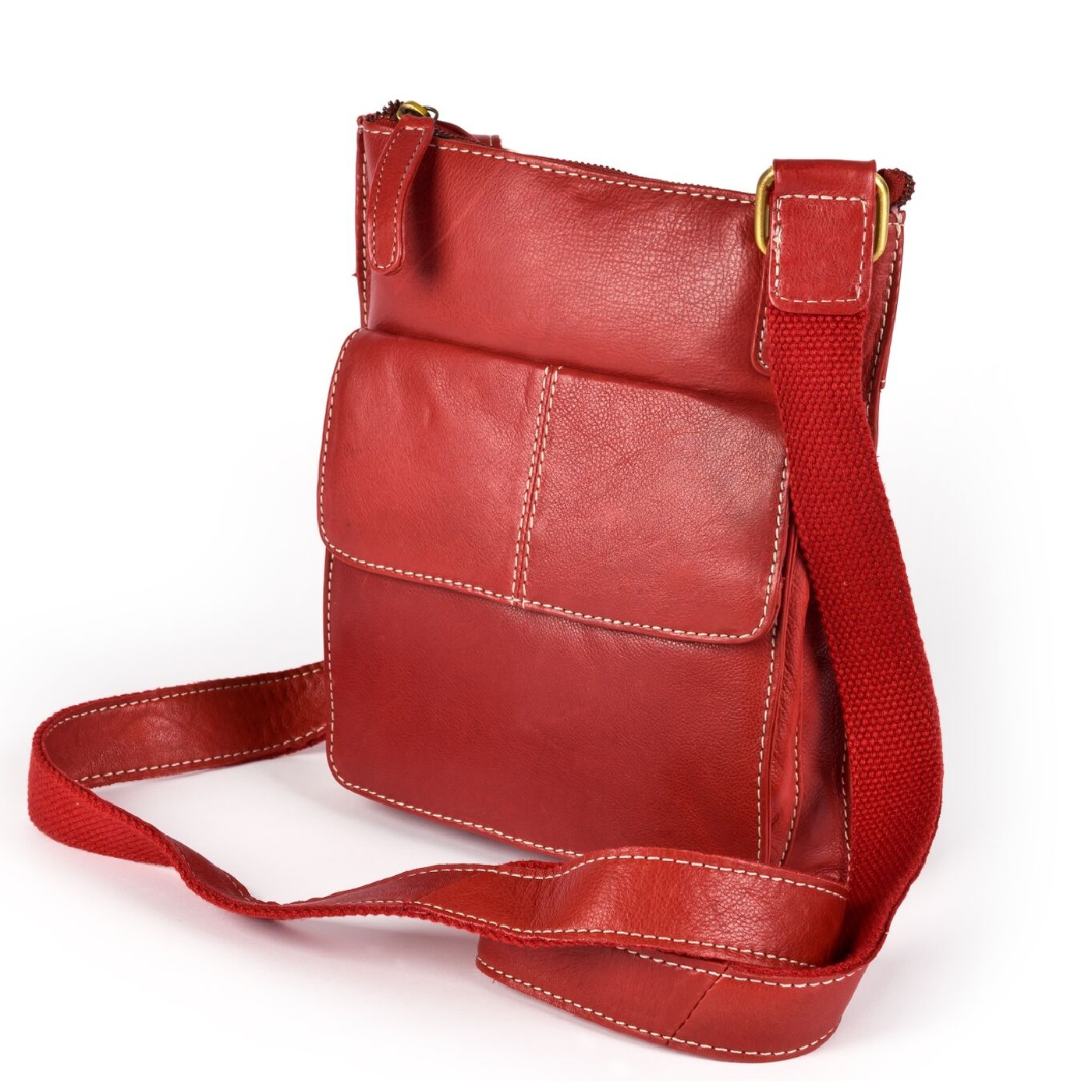 Eastern Counties Leather Womens/Ladies Claire Front Pocket Handbag (One size) (Red)