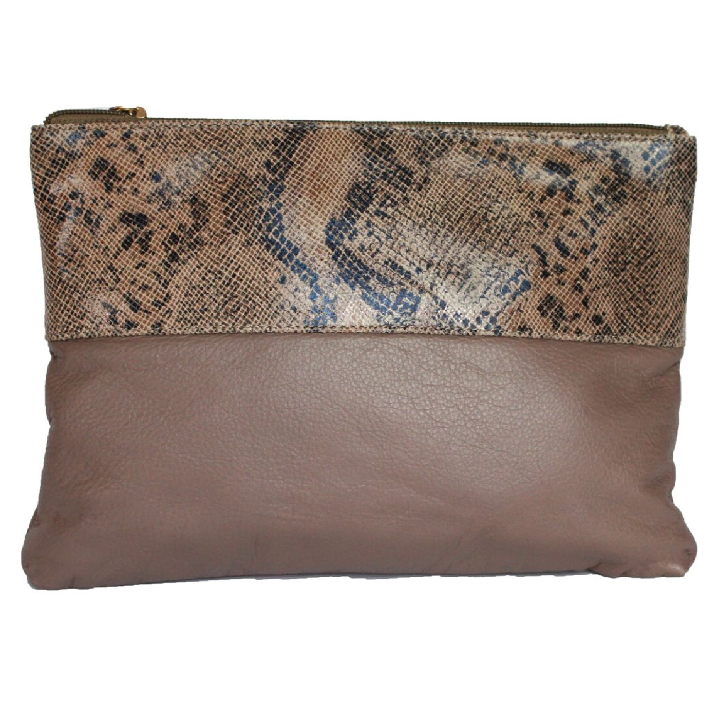 Eastern Counties Leather Womens/Ladies Courtney Clutch Bag (One size) (Taupe/Beige Foil)