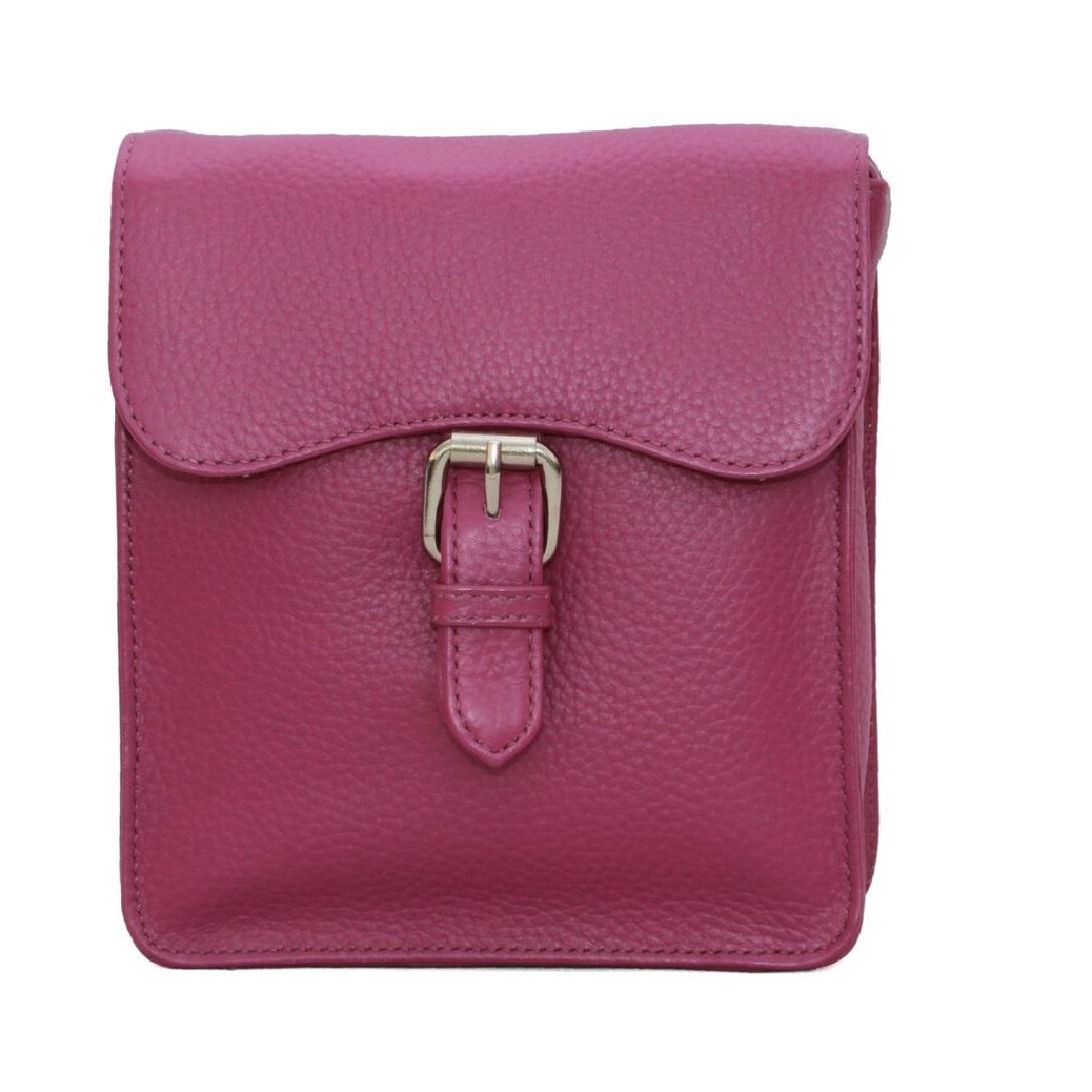 Eastern Counties Leather Womens/Ladies Ebony Satchel Style Handbag (One size) (Fuchsia)