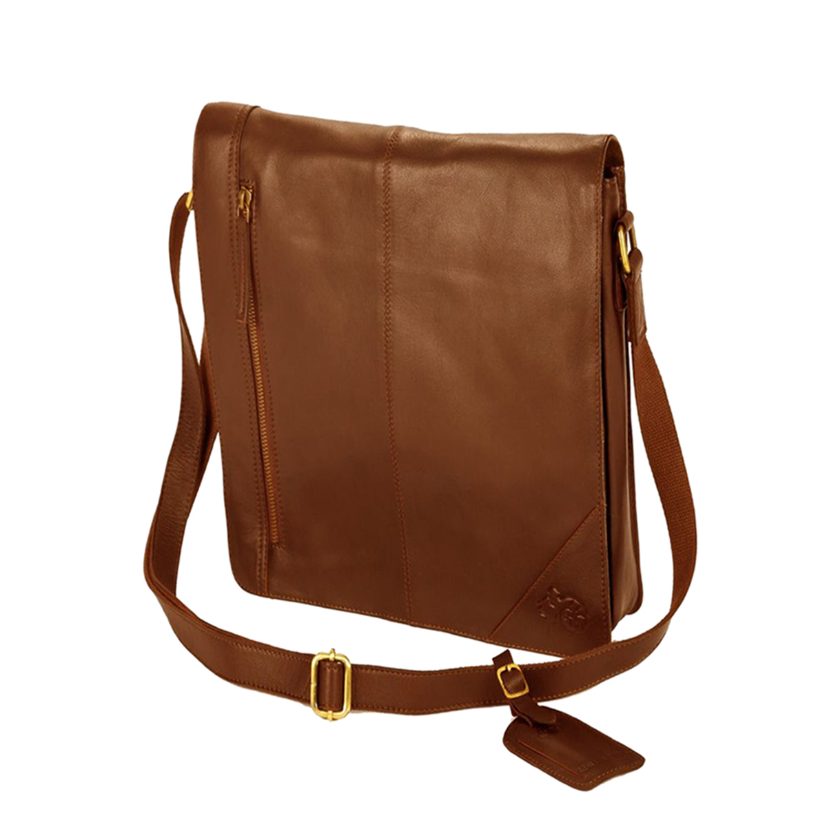 Eastern Counties Leather Narrow Messenger Bag (One size) (Brown)