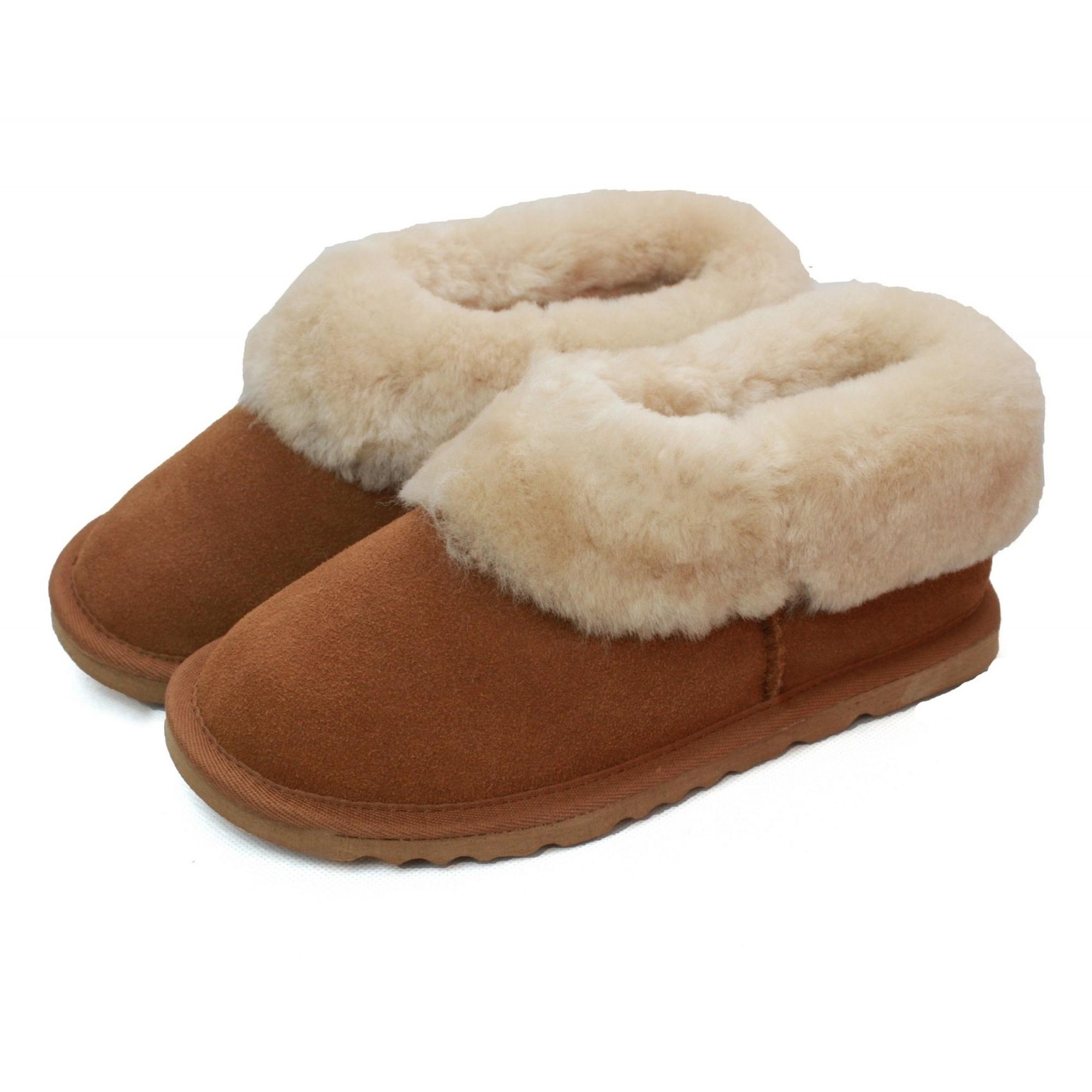 Eastern-Counties-Leather-Womens-Ladies-Sheepskin-Lined-Slipper-Boots-EL156 miniatura 3