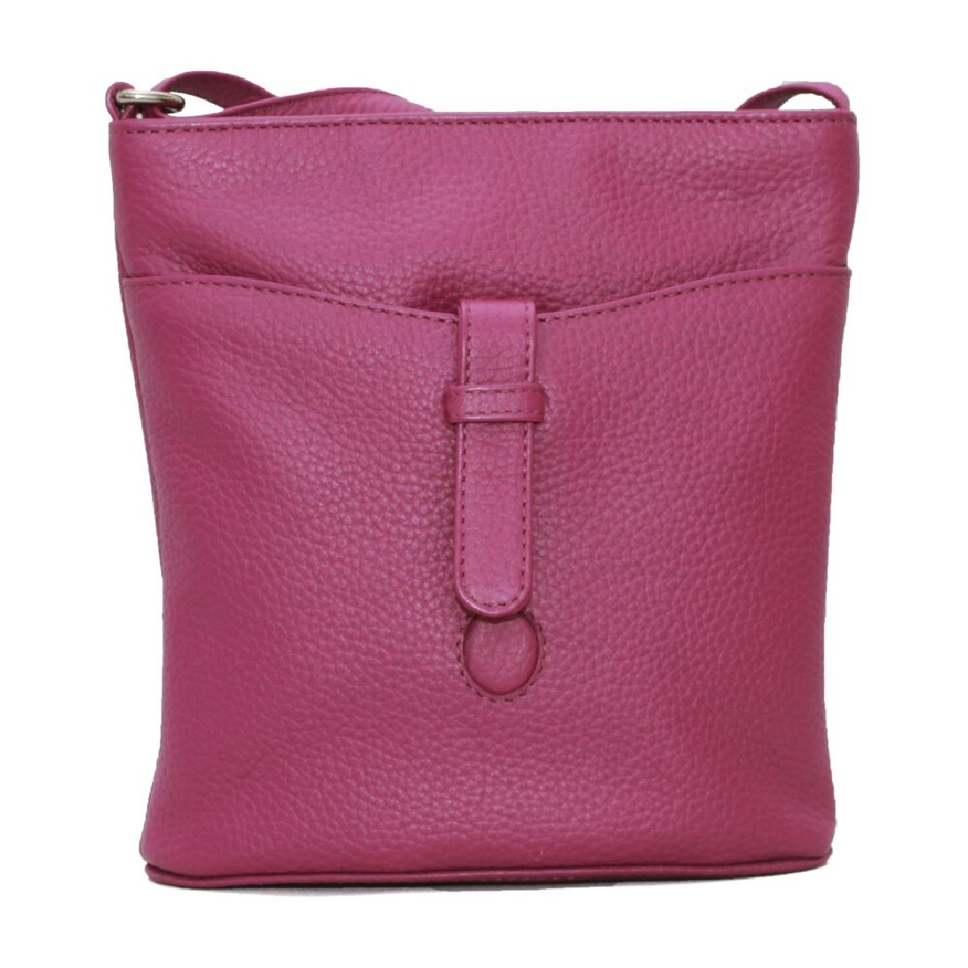 Eastern Counties Leather Womens/Ladies Faye Handbag (One size) (Fuchsia)