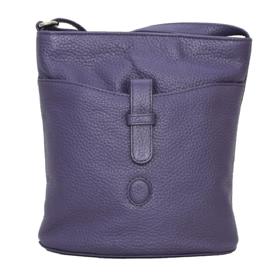 Eastern Counties Leather Womens/Ladies Faye Handbag (One size) (Purple)