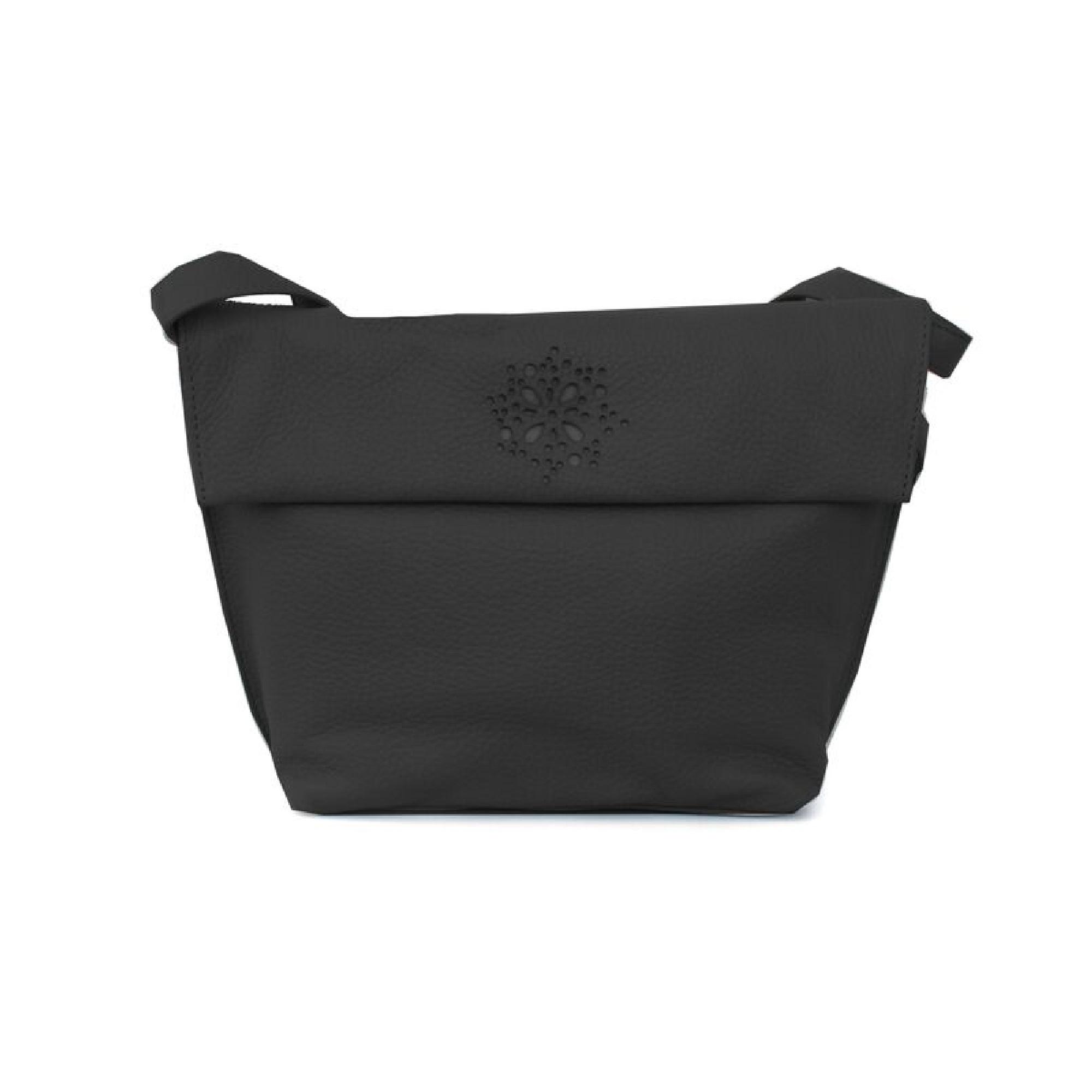 Eastern Counties Leather Womens/Ladies Heather Laser Cut Detail Handbag (One size) (Black)