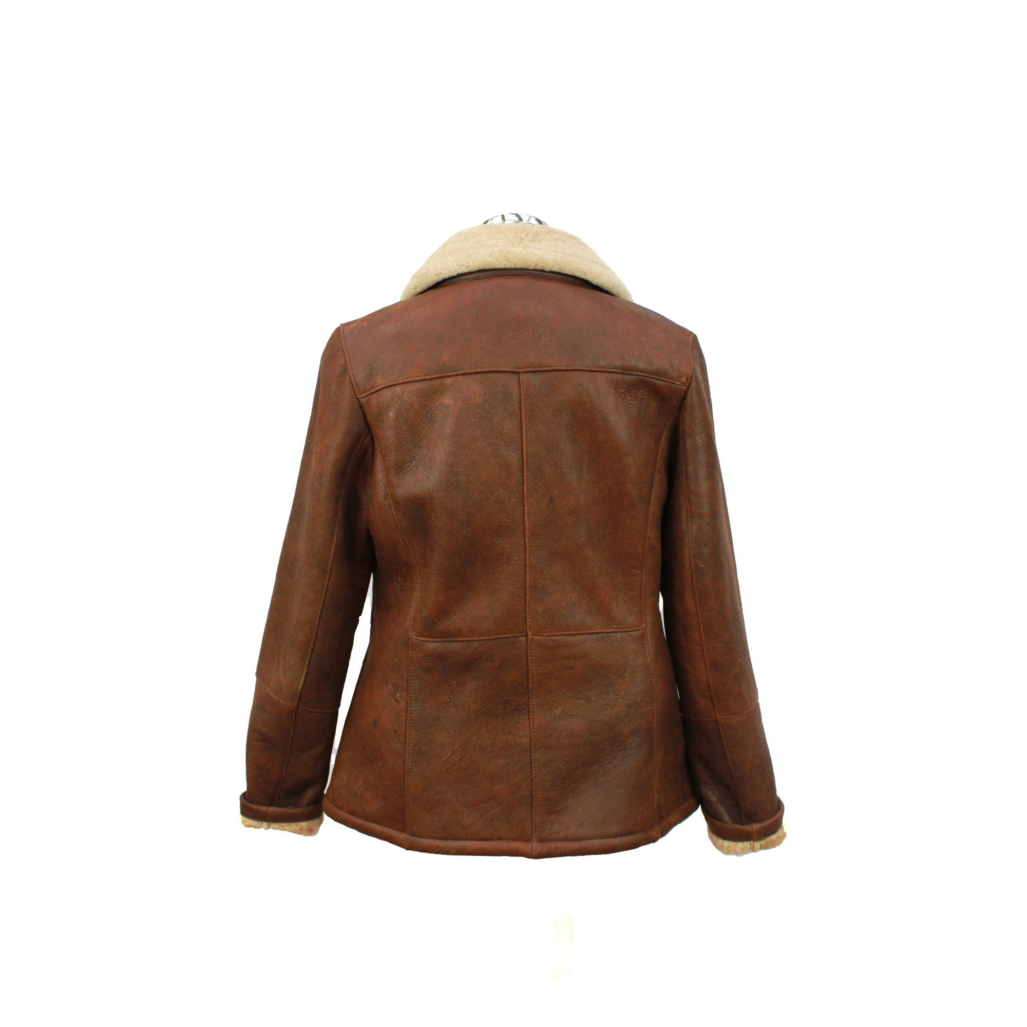 Eastern Counties Leather Womens/Ladies Hillary Aviator Sheepskin Coat (14) (Mushroom)