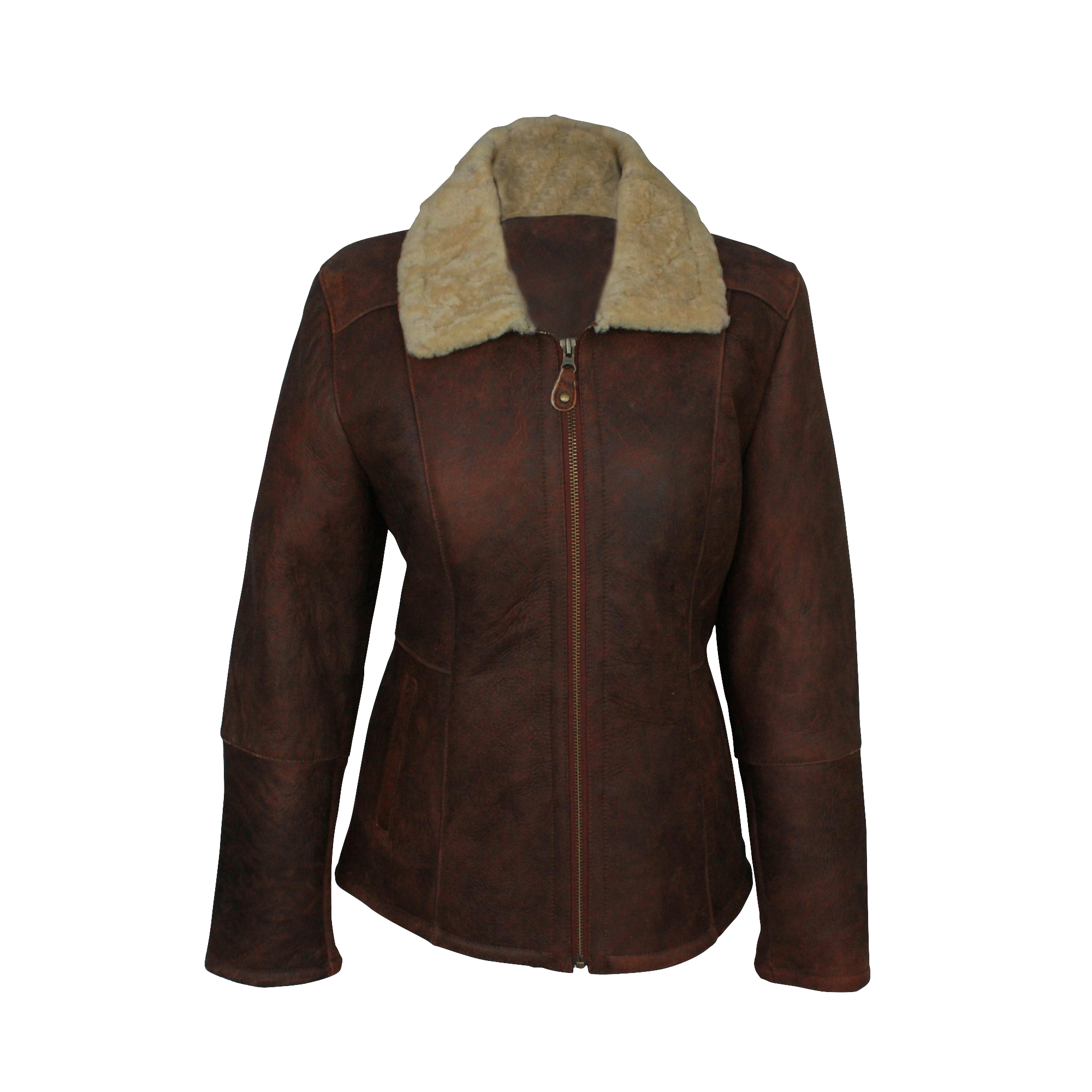 Eastern Counties Leather Womens/Ladies Hillary Aviator Sheepskin Coat (20) (Brick Forest)