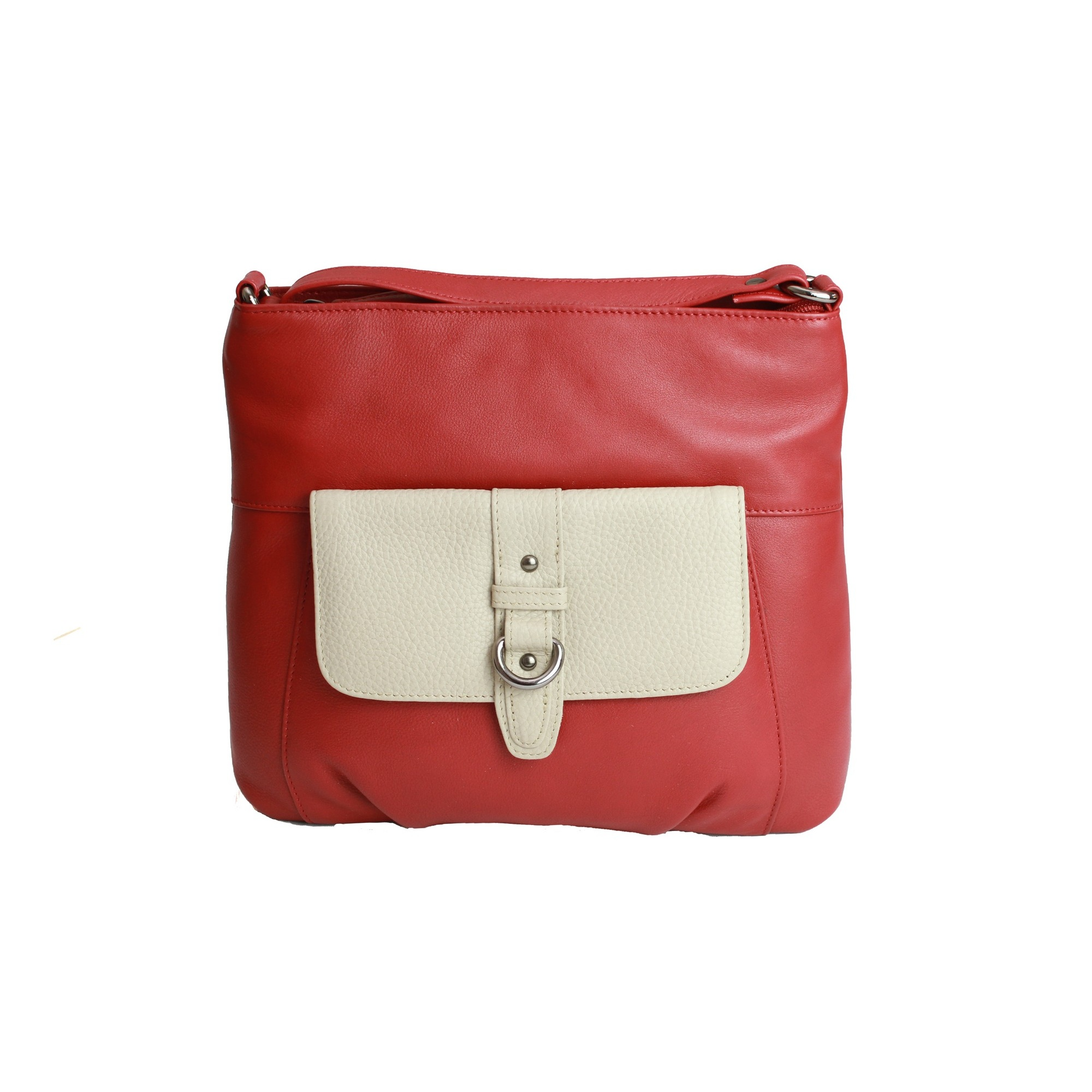 Eastern Counties Leather Womens/Ladies Jemma Contrast Pocket Handbag (One size) (Red)