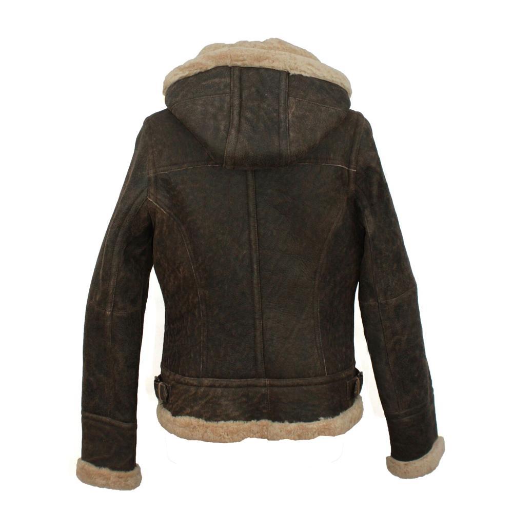 Eastern Counties Leather Womens/Ladies Jessie Hooded Sheepskin Jacket (12) (Dark Brown Nappa)