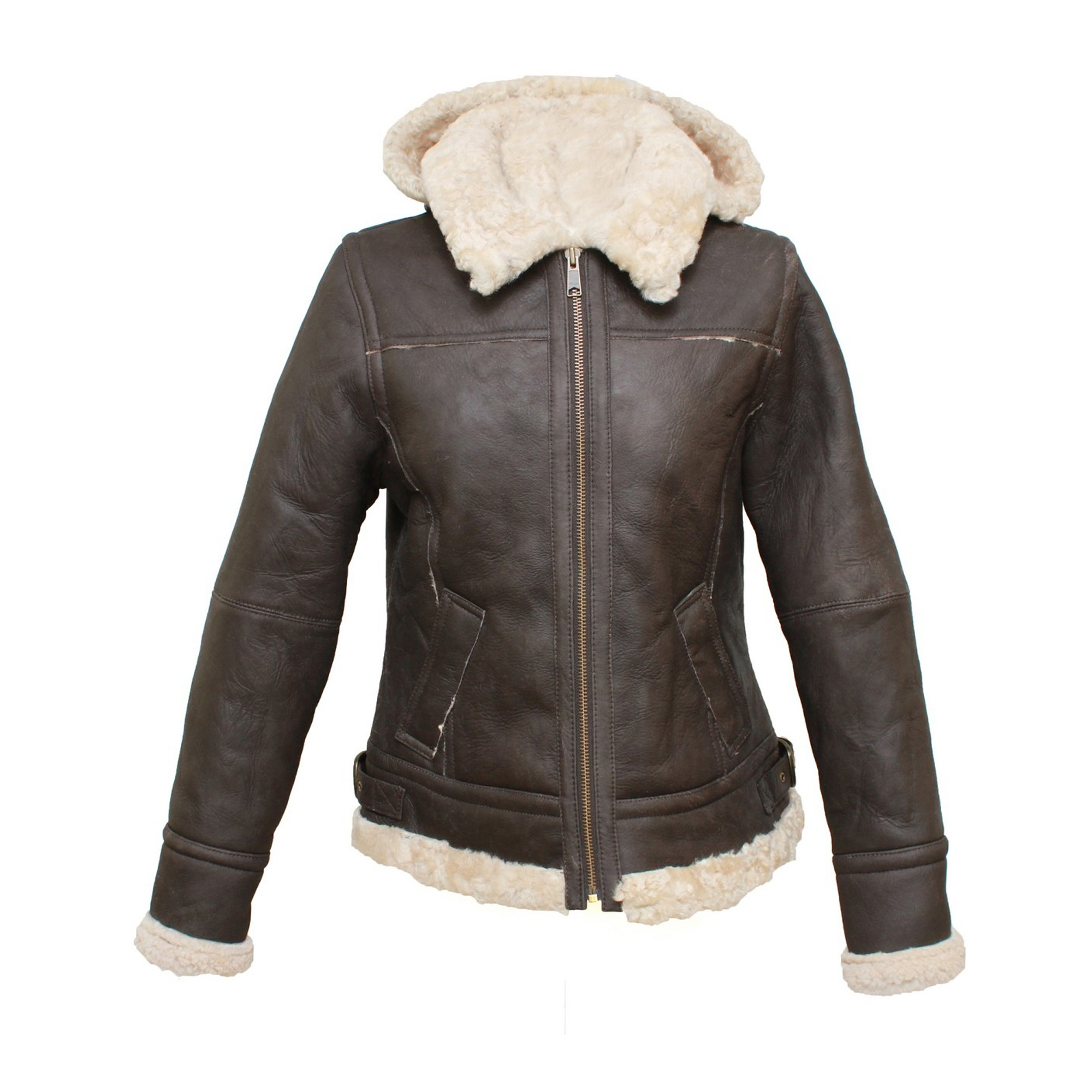 Eastern Counties Leather Womens/Ladies Jessie Hooded Sheepskin Jacket (16) (Chocolate Forest)